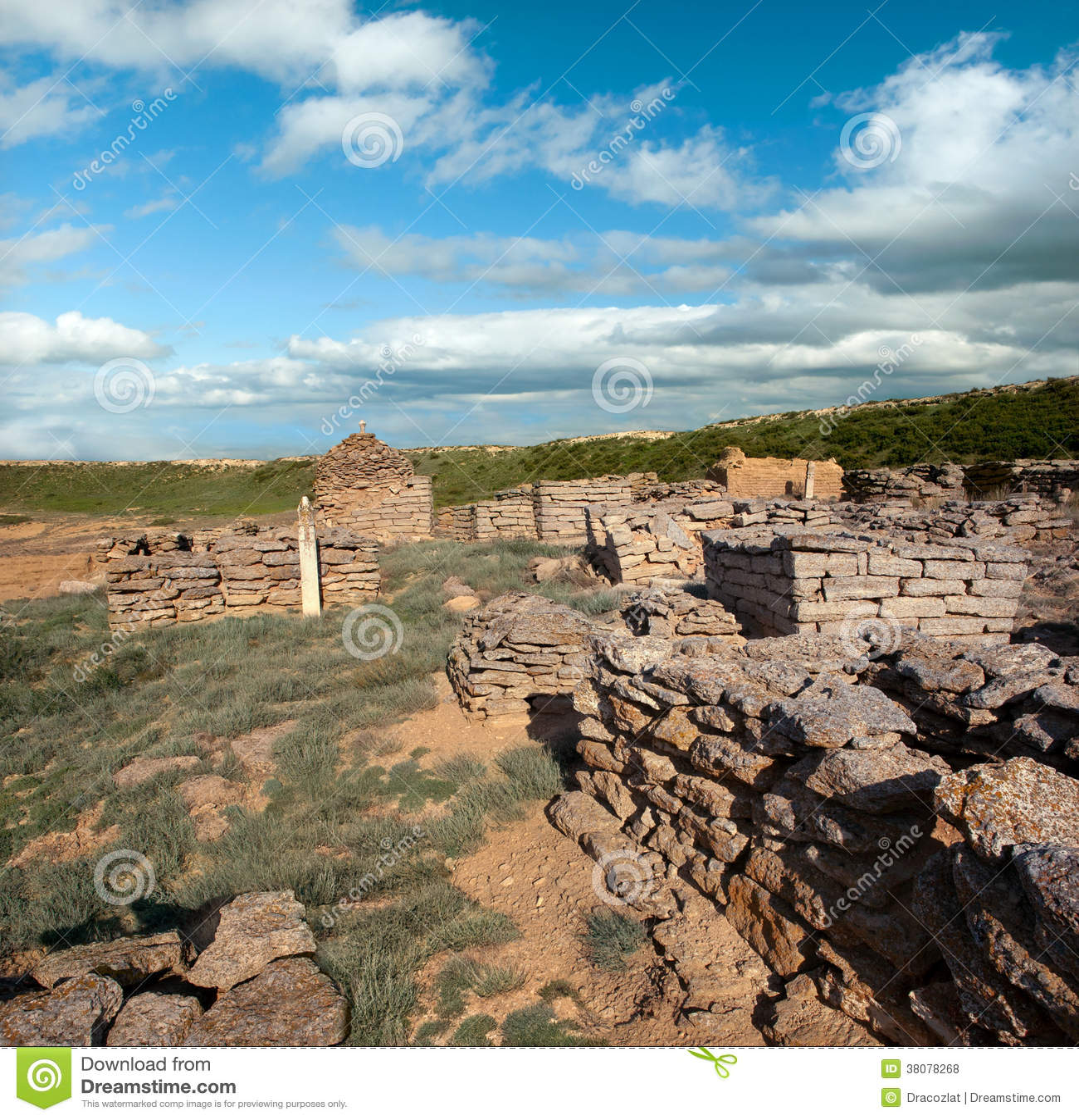 Ruiny antyczny cmentarz