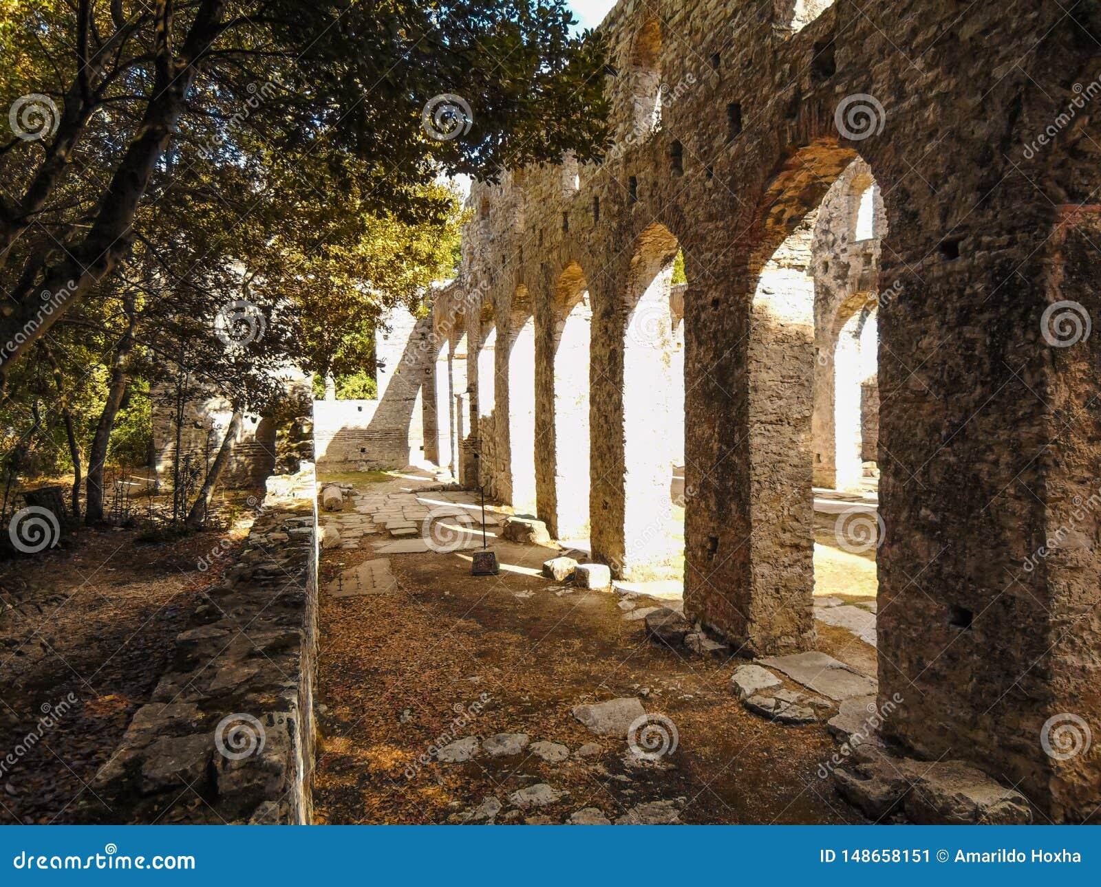Ruiny antyczny miasteczko Butrint