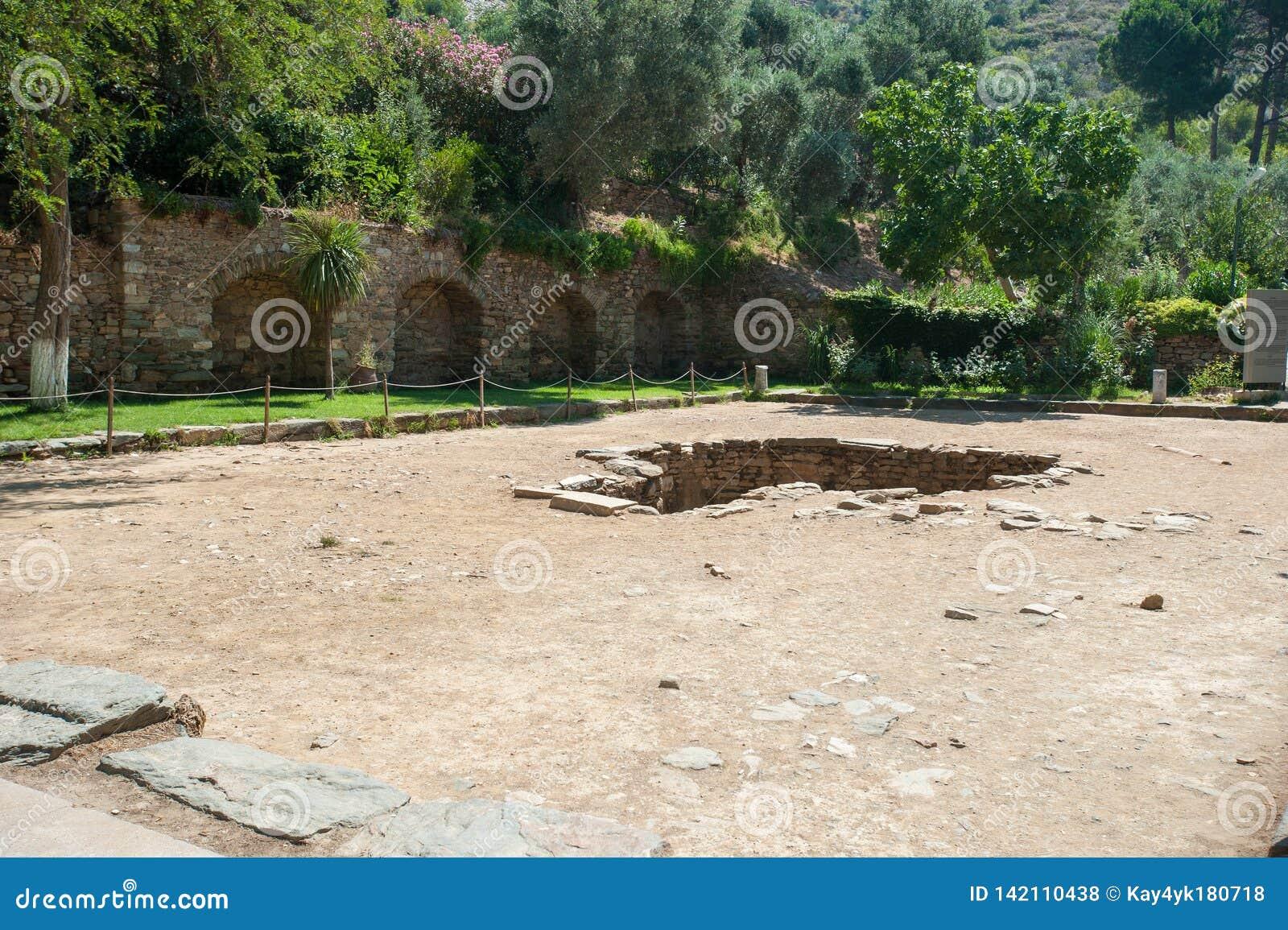 Ruiny antyczny miasto Ephesus staro?ytnego grka miasto w Turcja, w pi?knym letnim dniu