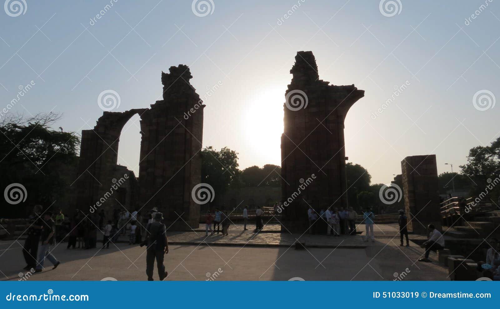 Ruiny przy Qutub Minar Delhi