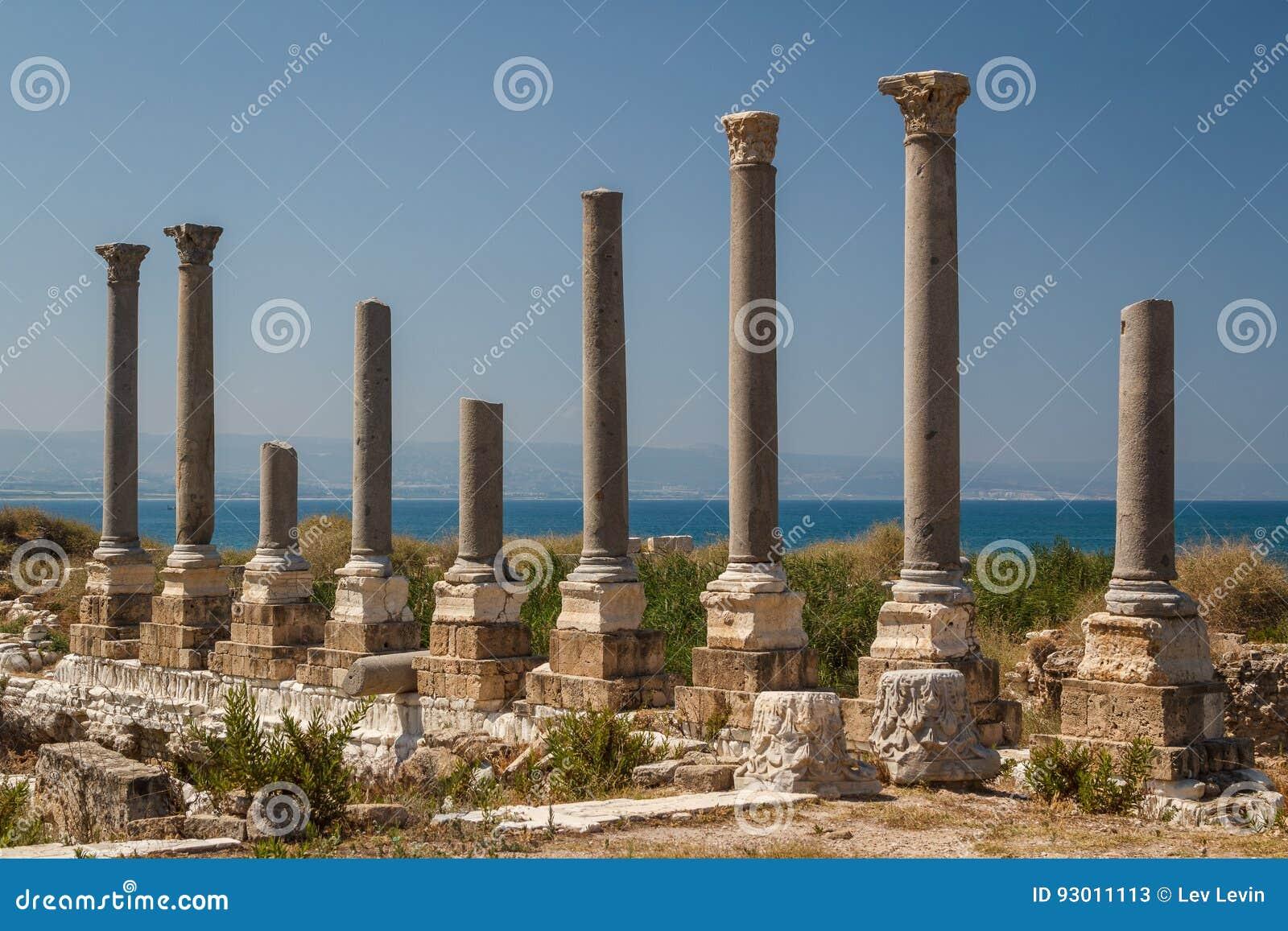 Ruiny Romański miasto w oponie