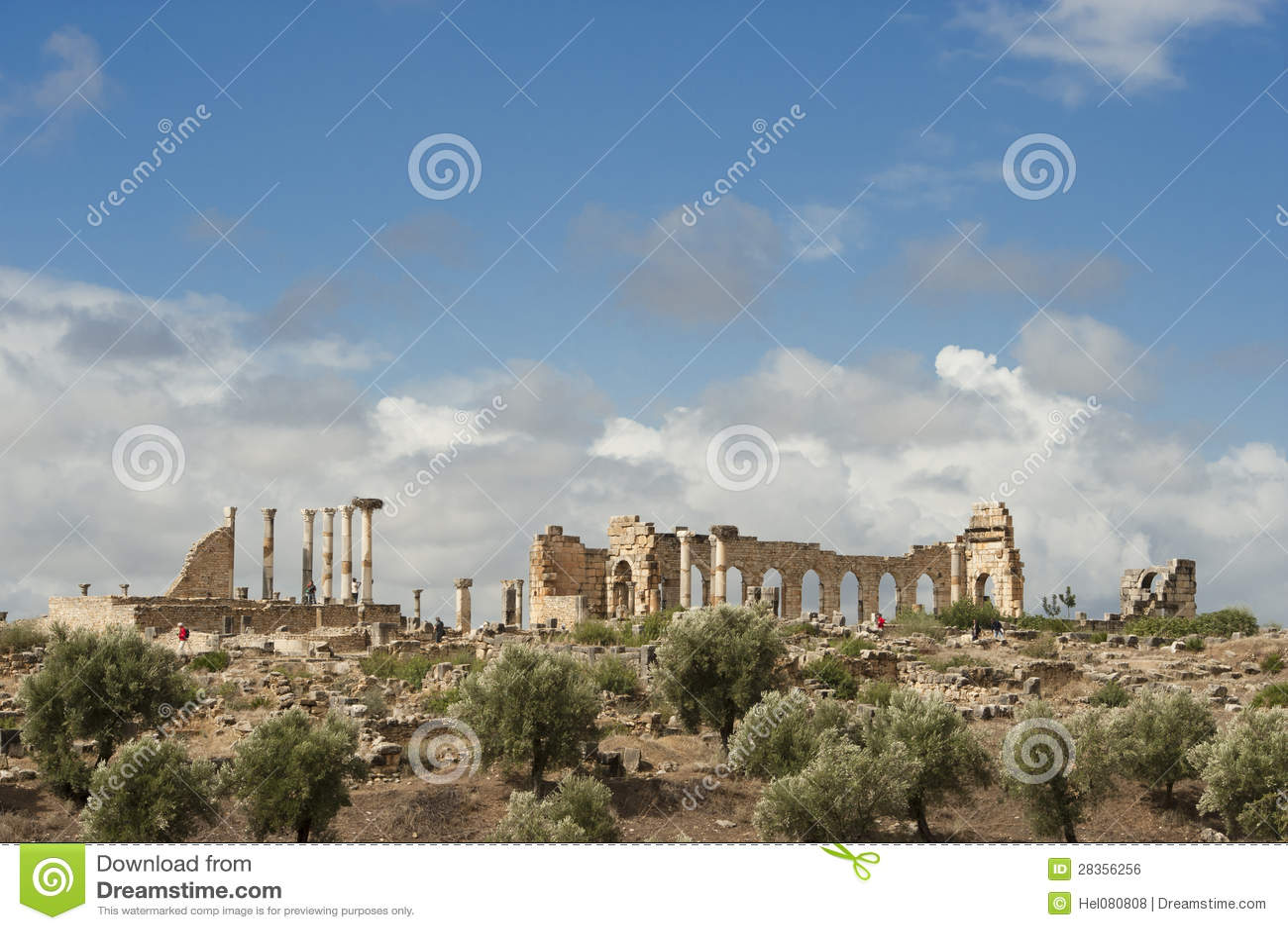 Ruiny rzymski miasto Volubilis w Marocco