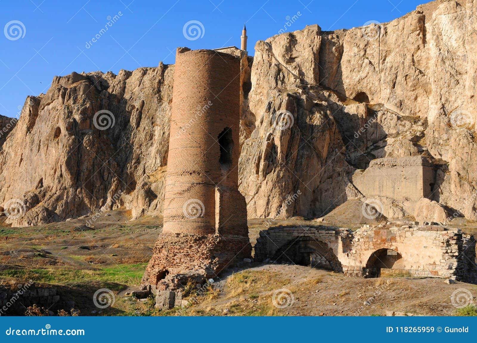 Ruiny stary fort w Van, Wschodni Turcja