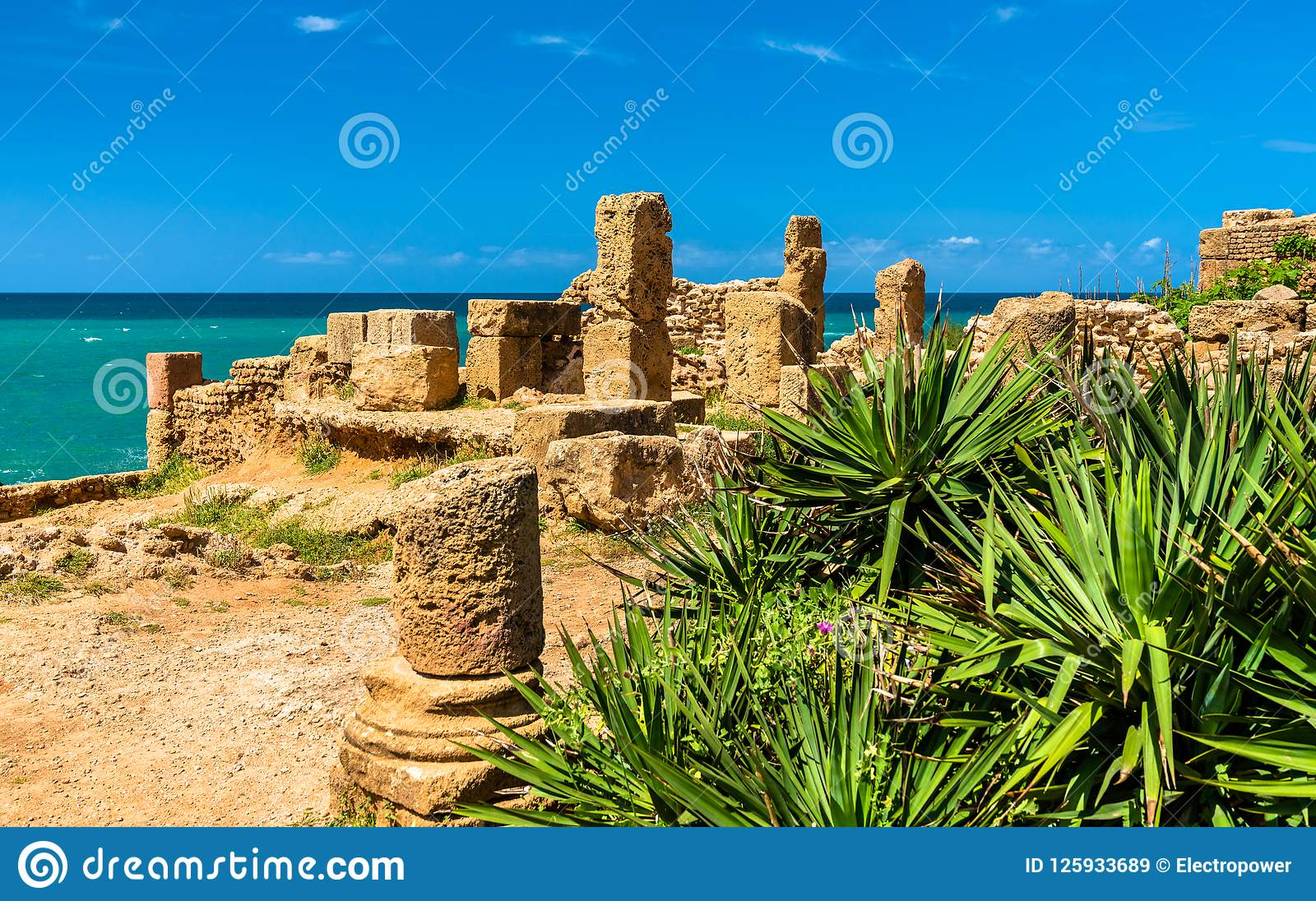Ruiny Tipasa, Romański colonia w Algieria, afryka pólnocna