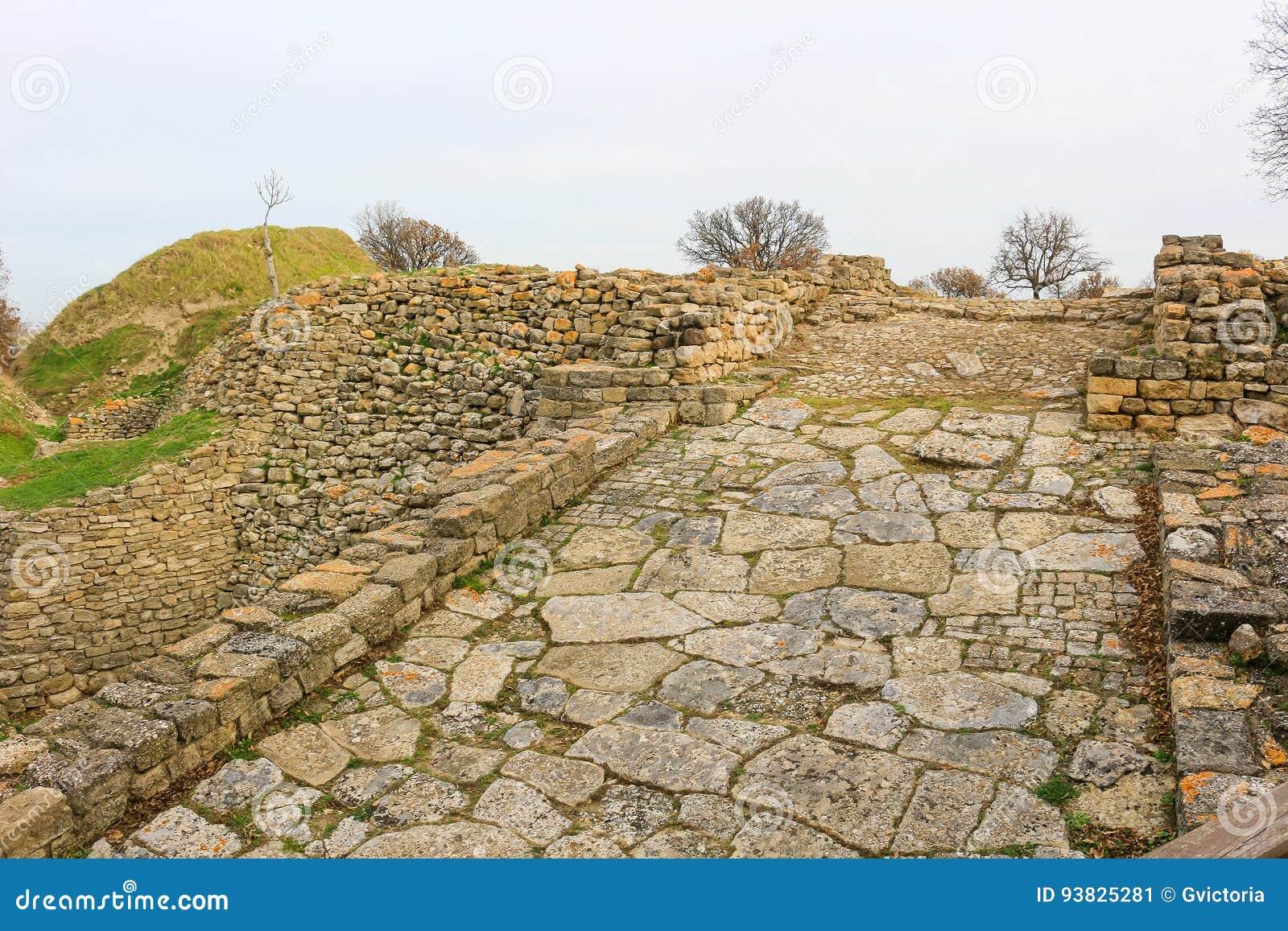Ruiny w Troja Turcja