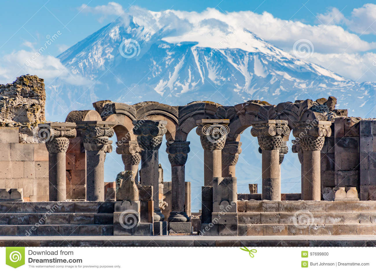 Ruiny Zvartnos świątynia w Yerevan, Armenia