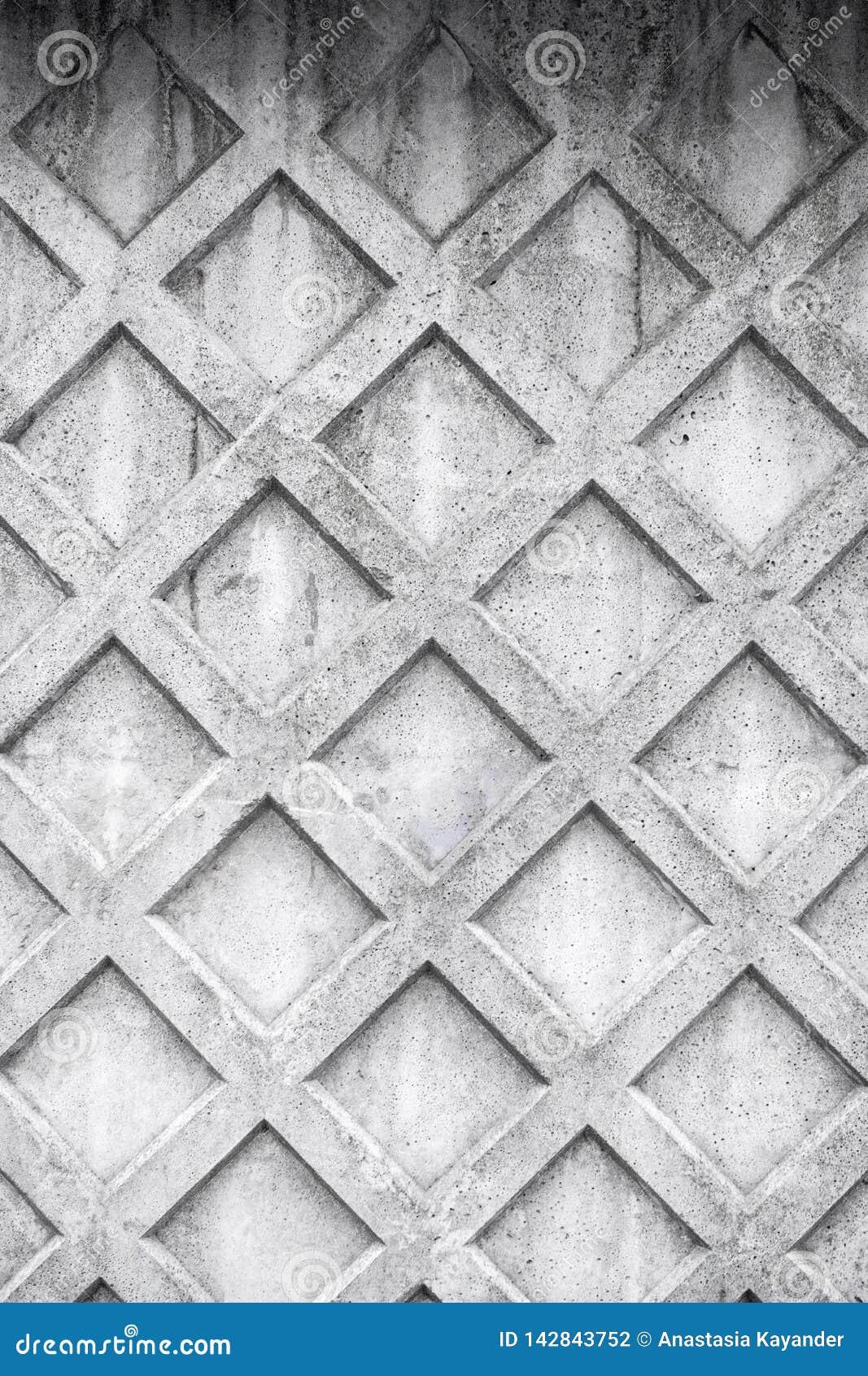 Ruitachtergrond Abstracte geometrische achtergrond van het beton