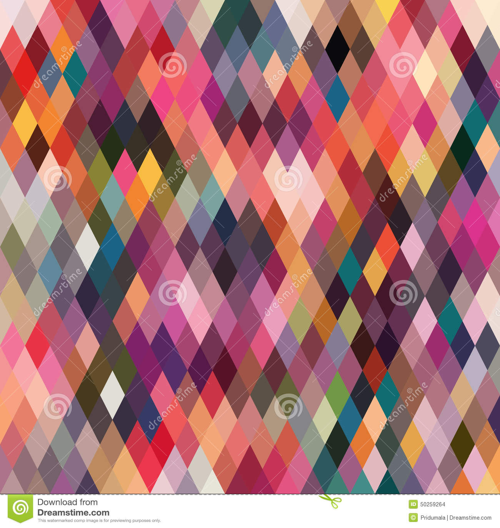 Ruitvormig patroon van geometrische vormen Textuur met stroom van spectr