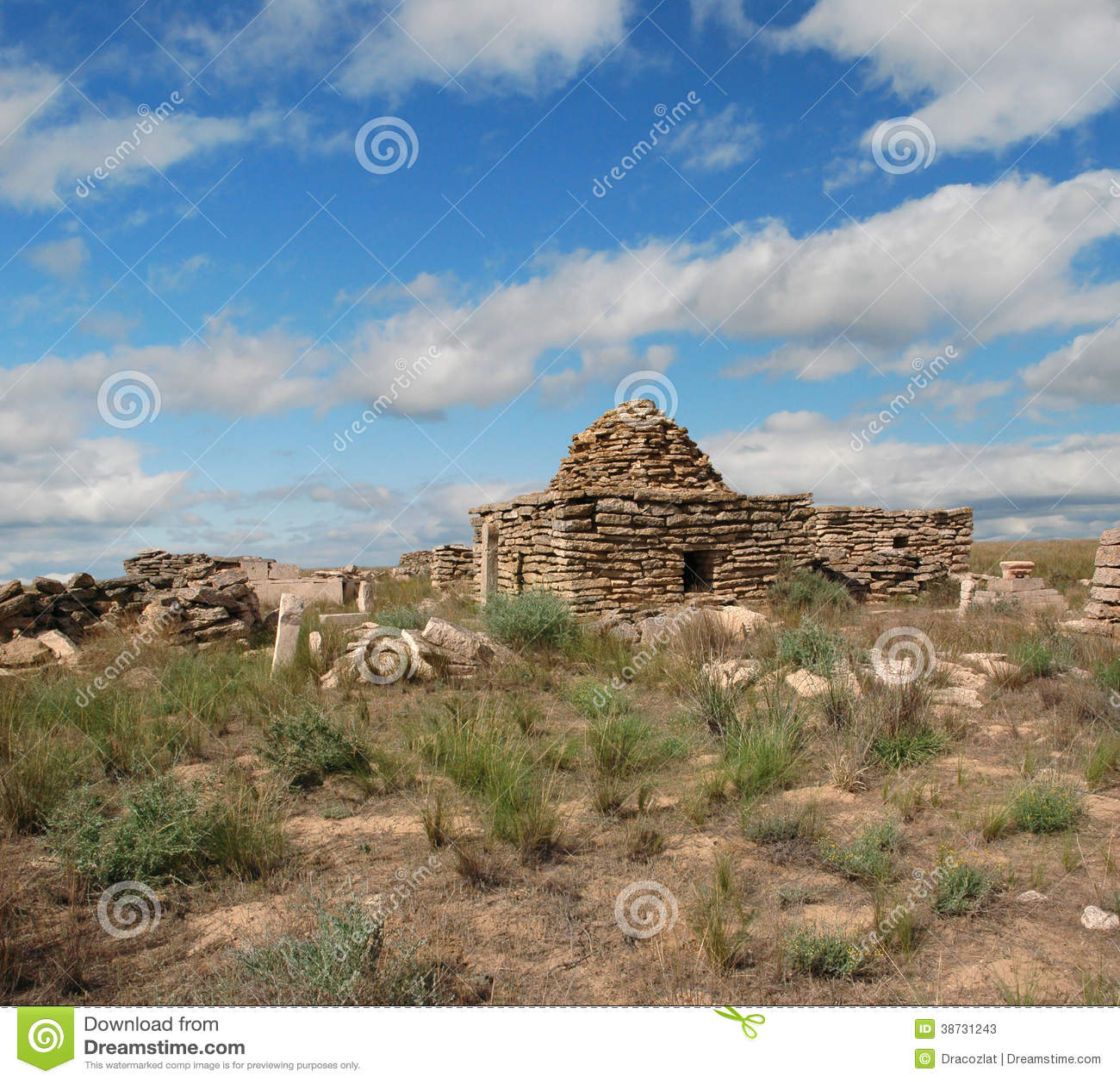 Rujnuje cmentarz w pustynnym Ustyurt