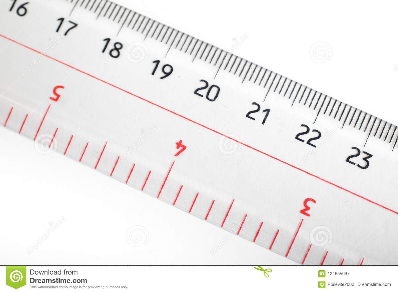 ruler for inches centimeter and millimeter stock image image of