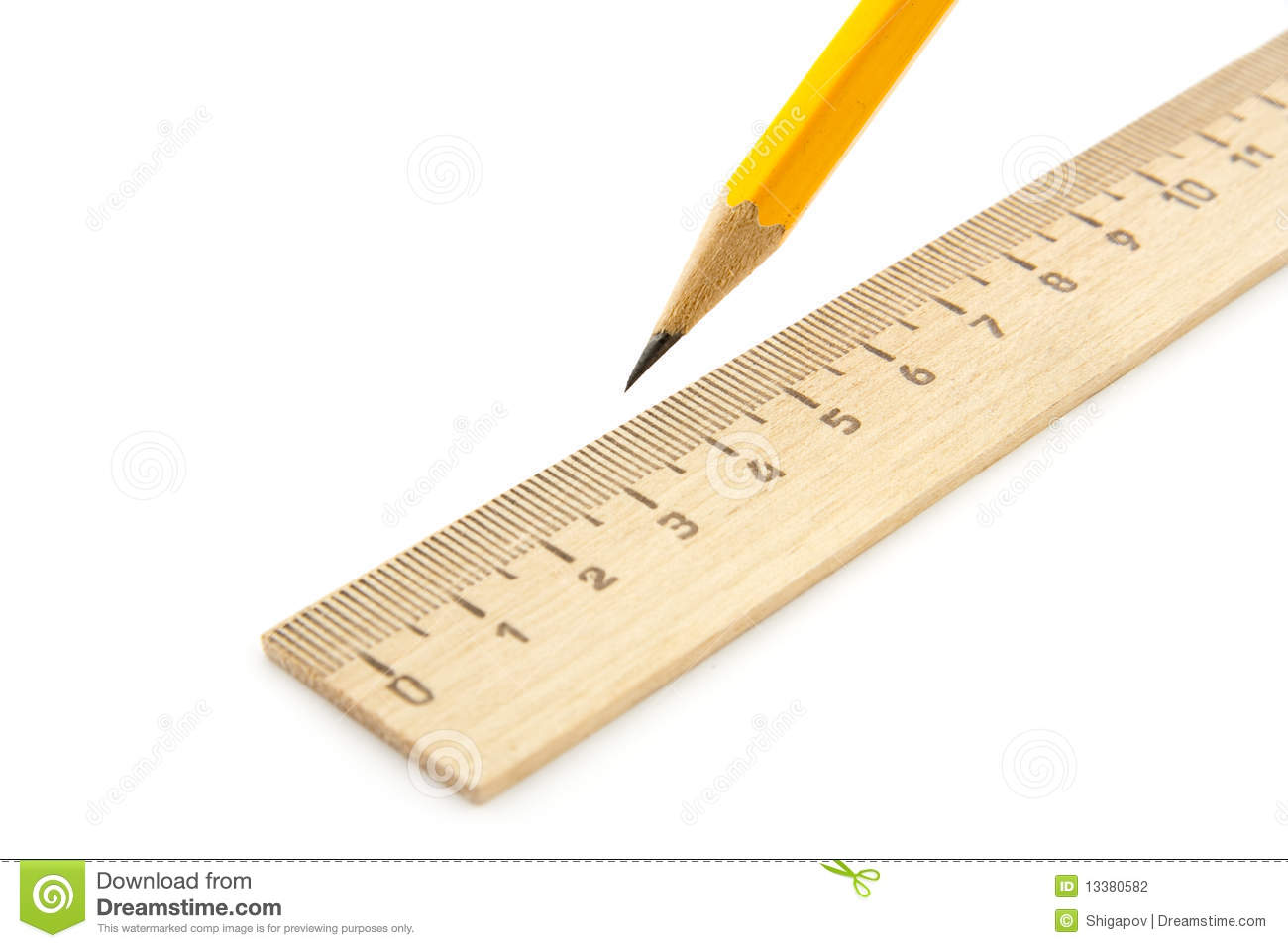 Ruler And Pencil Stock Photography - Image: 13380582