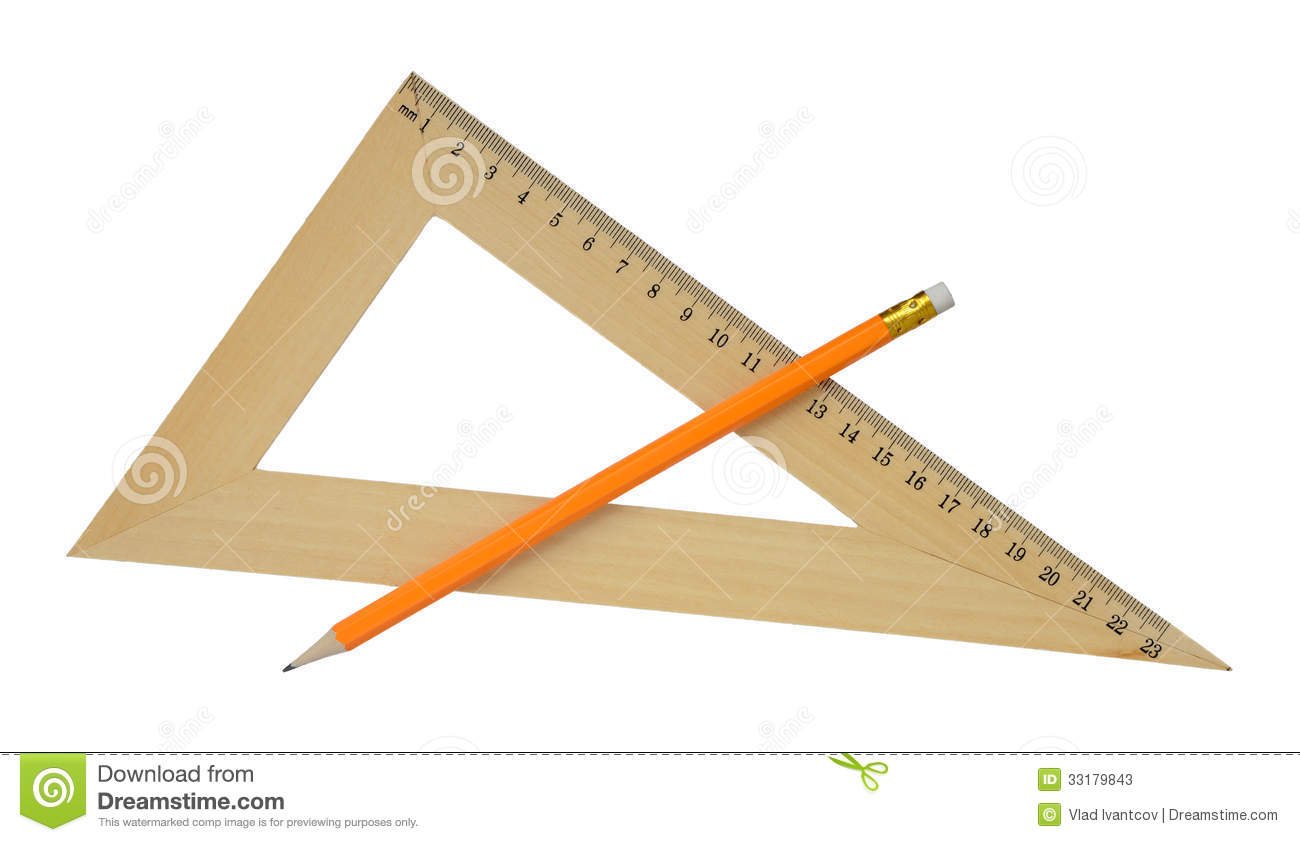 Ruler and pencil.