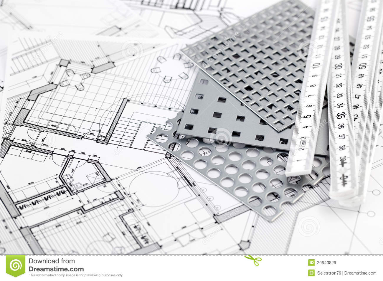 ruler perforated metal architectural plans royalty free stock metal perforated plans equipment home architecture