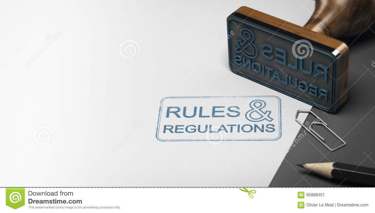 Rules And Regulations Background Stock Illustration - Illustration of blur, regulation: 95888401