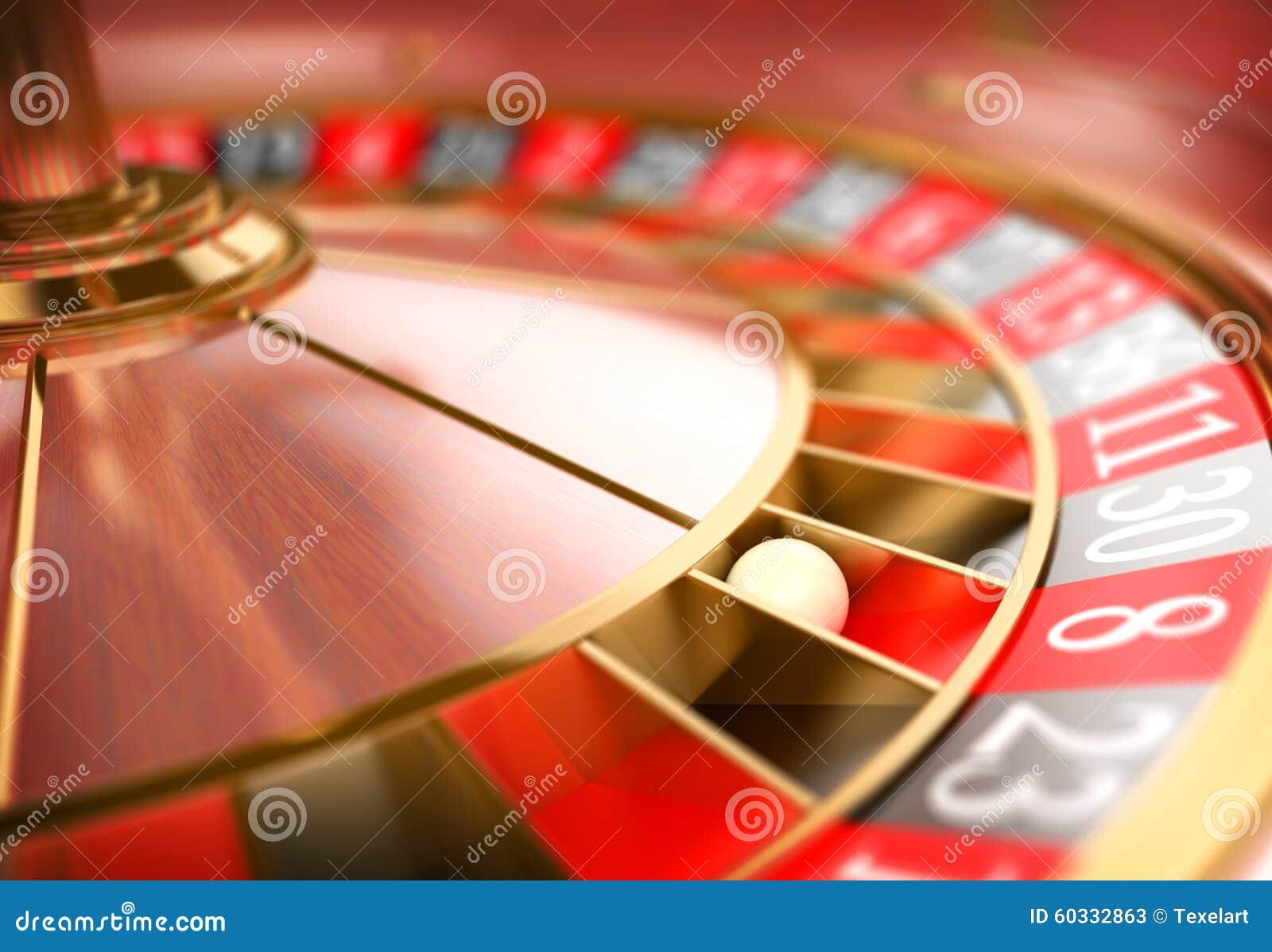 Ruleta del casino 3D Concepto de juego