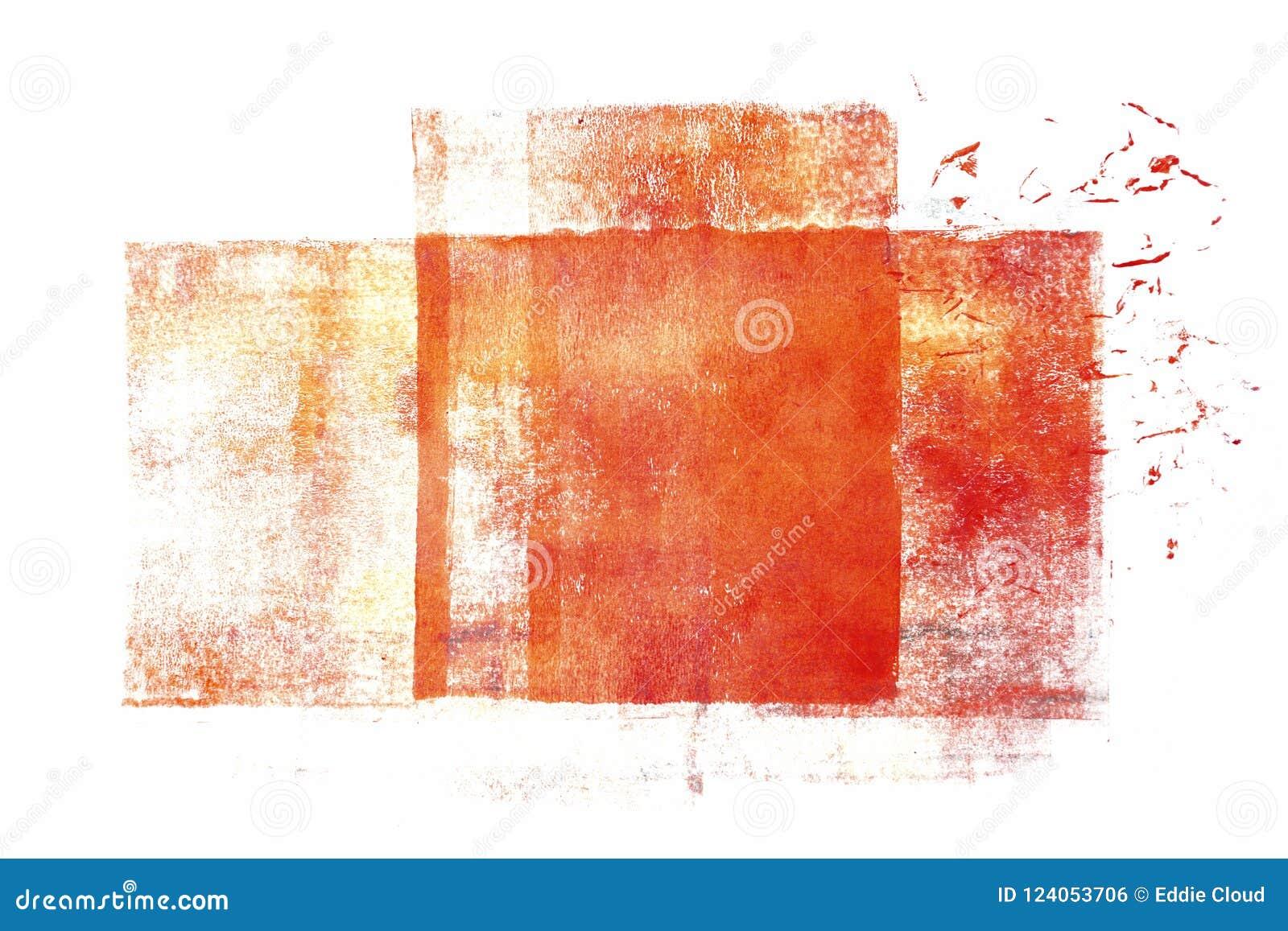 Rullande akrylmålarfärg som isoleras på vit bakgrund