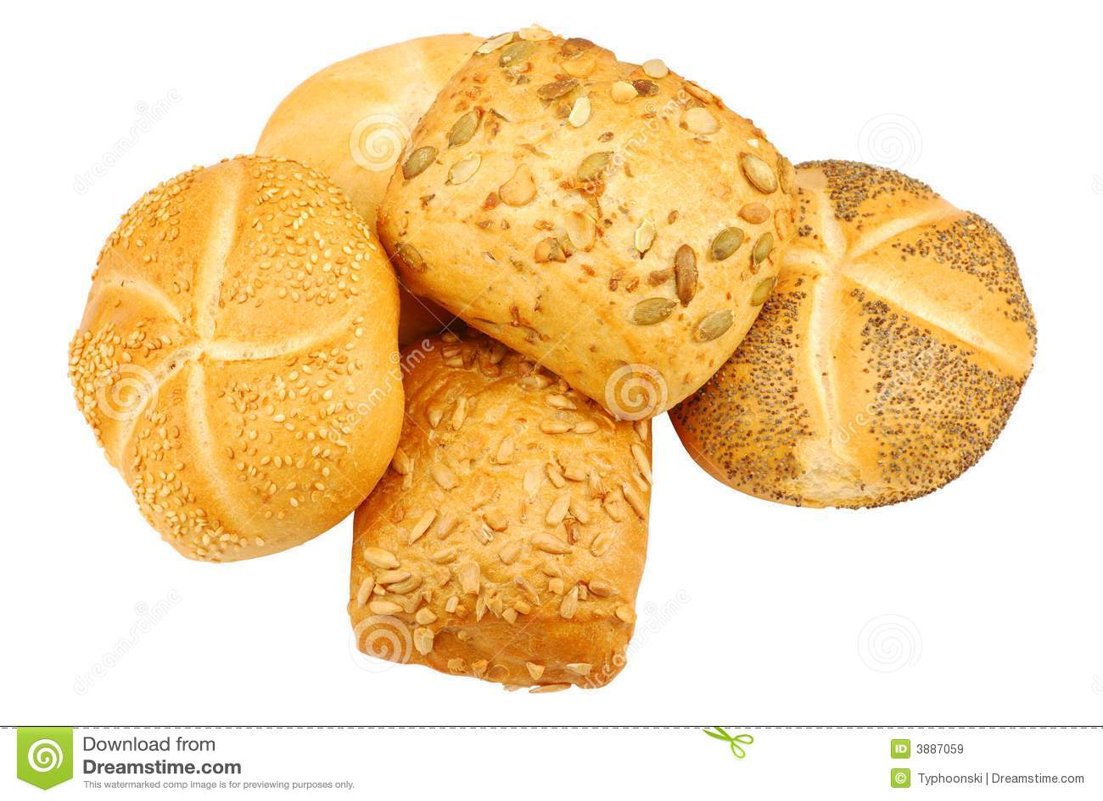 Rulli di pane fresco