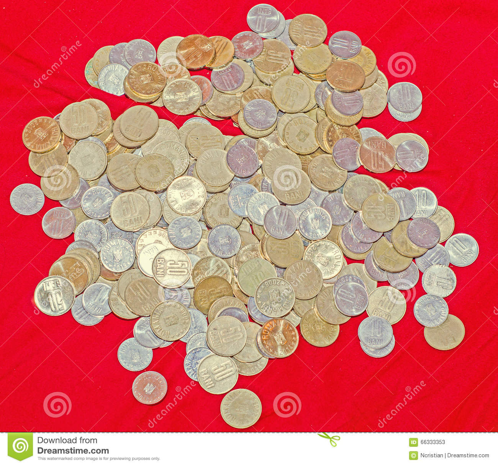 Rumänische Münzen 50 Bani 10 Bani Bündel Geld Vom Kupfer Metall