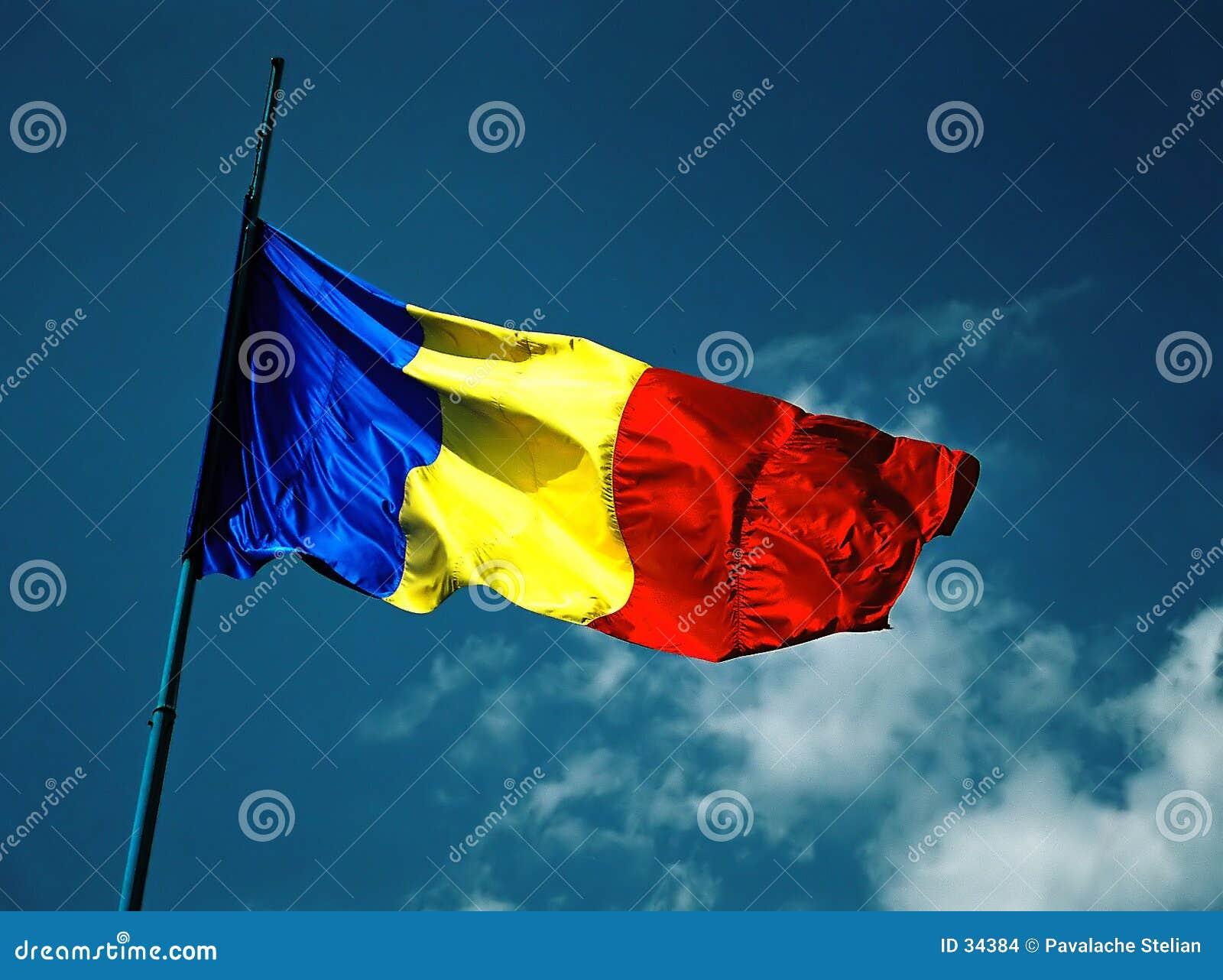 Rumänische Markierungsfahne