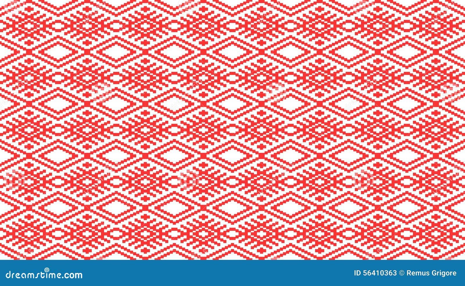 Rumänisches traditionelles nahtloses Muster