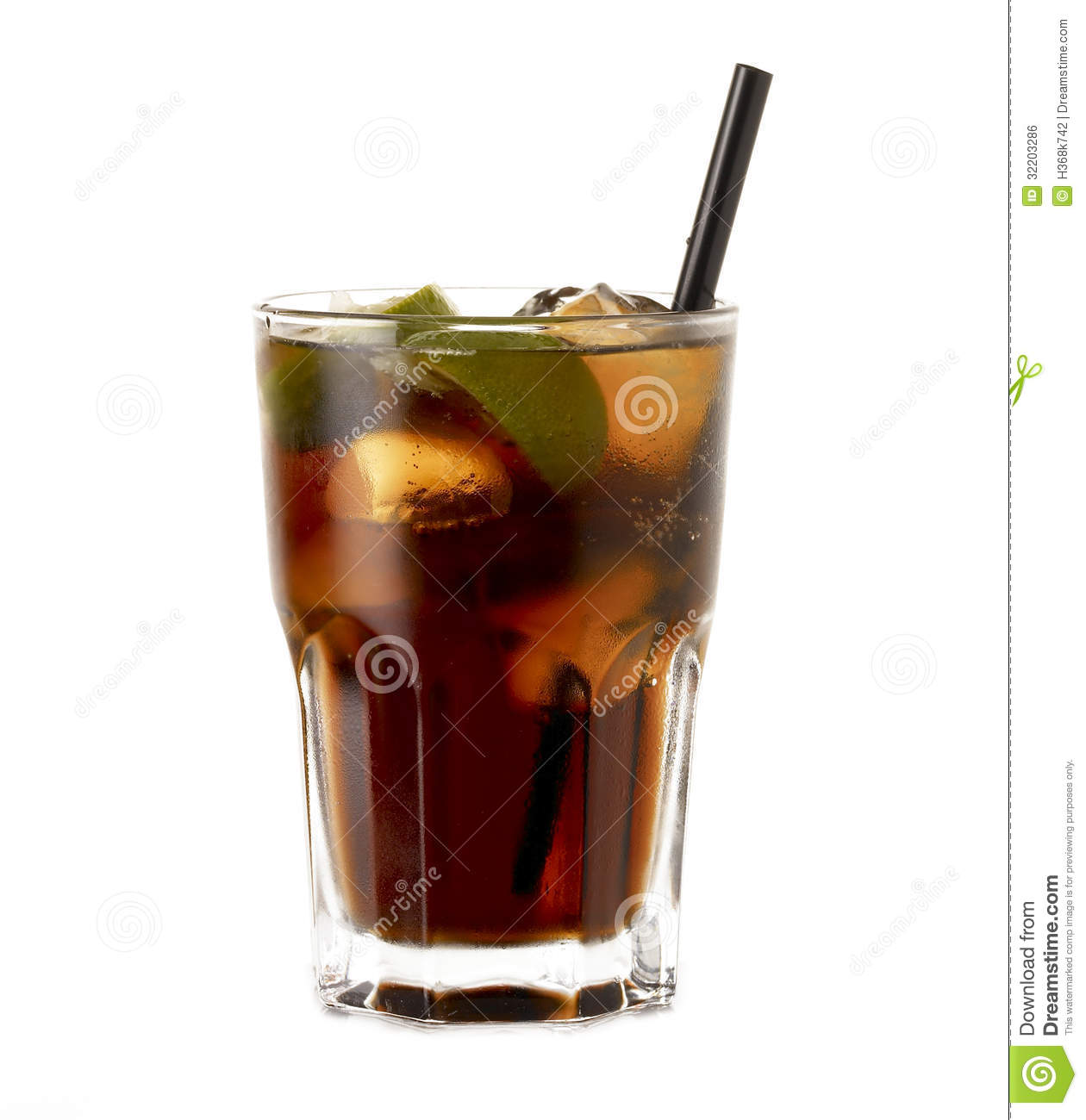 Rum cocktail cuba libre royalty free stock image image for Mixed drinks with white rum