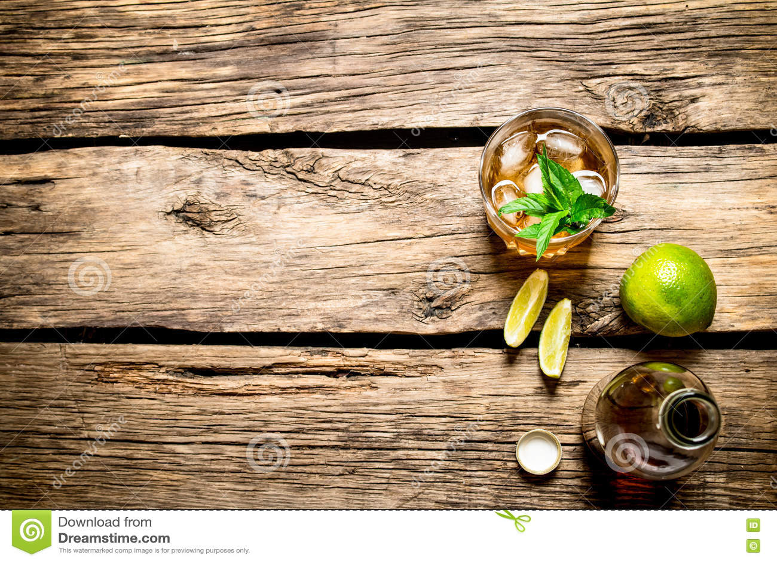 Rum met munt en kalk