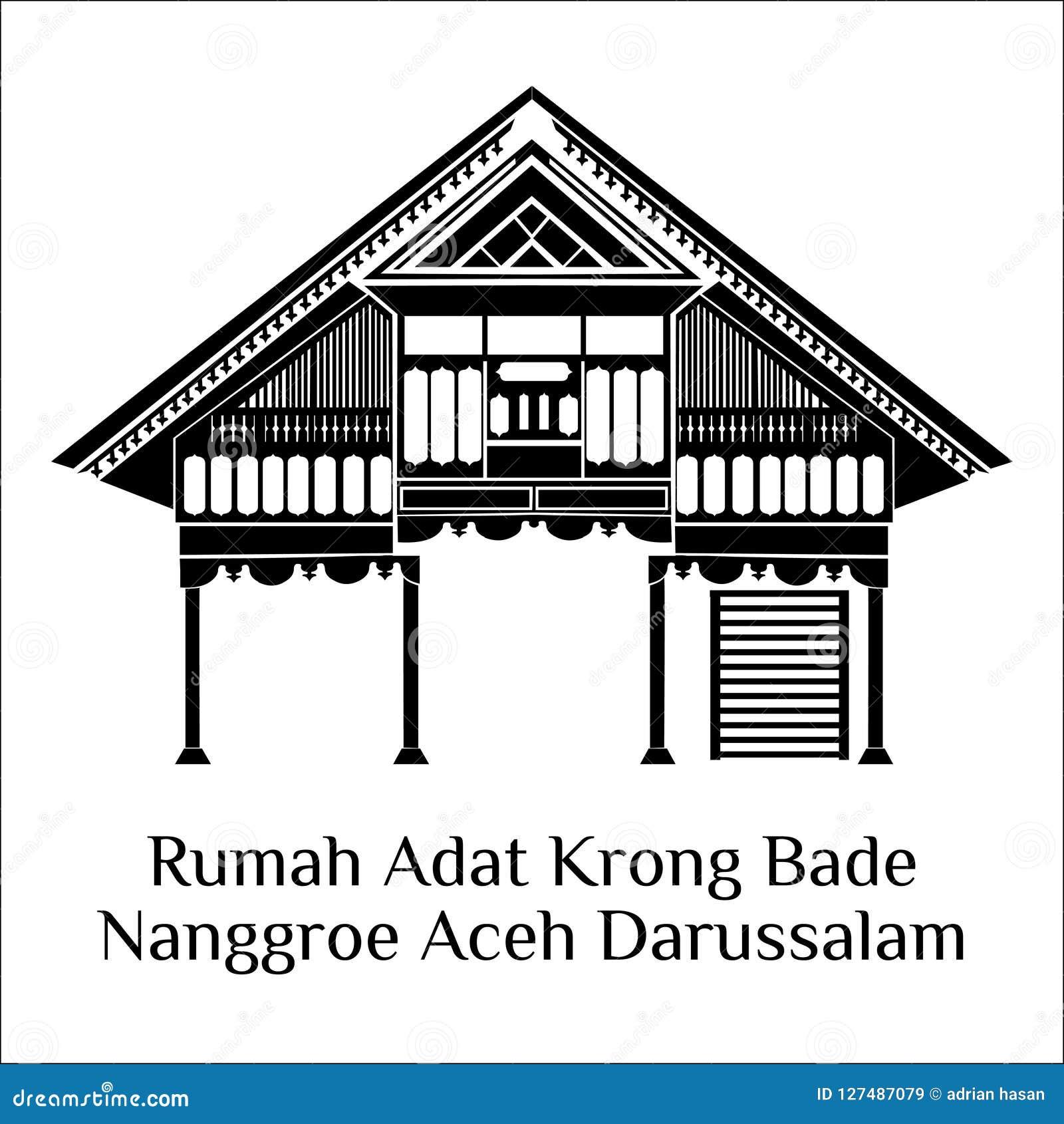 Rumah Adat Jawa Timur Vector