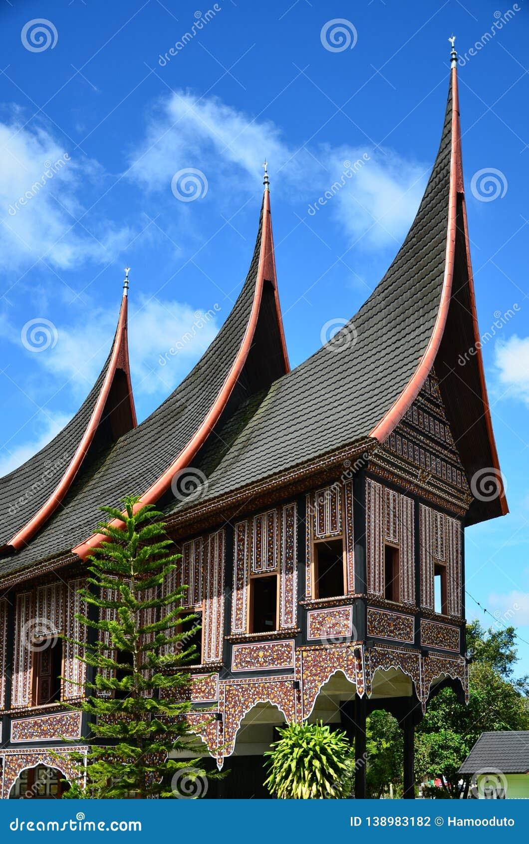 rumah gadang minangkabau traditional house 138983182