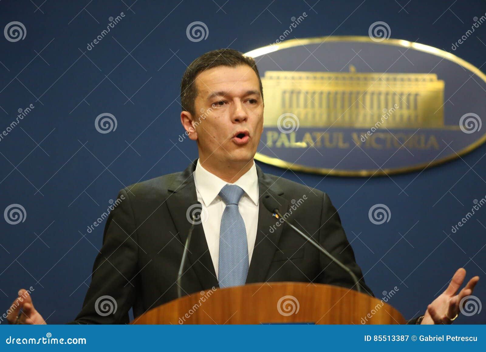 Rumuński Pierwszorzędny minister Sorin Grindeanu