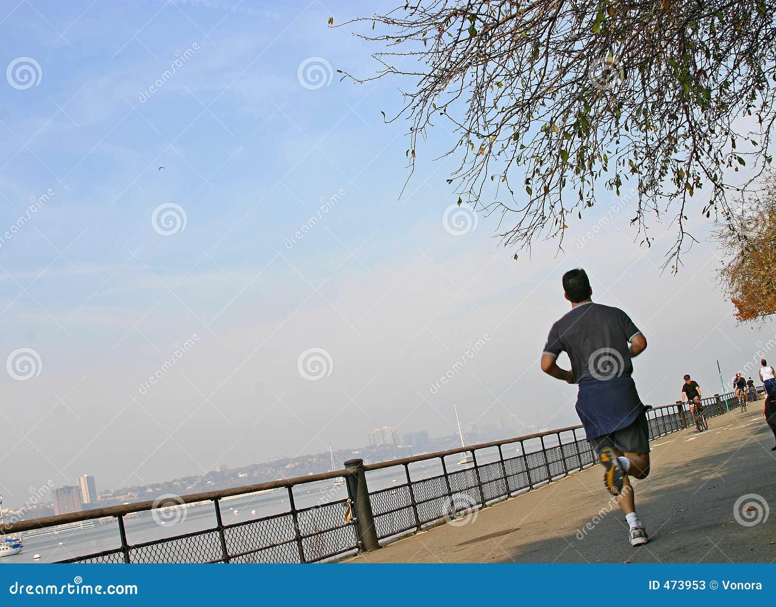 Run along a river