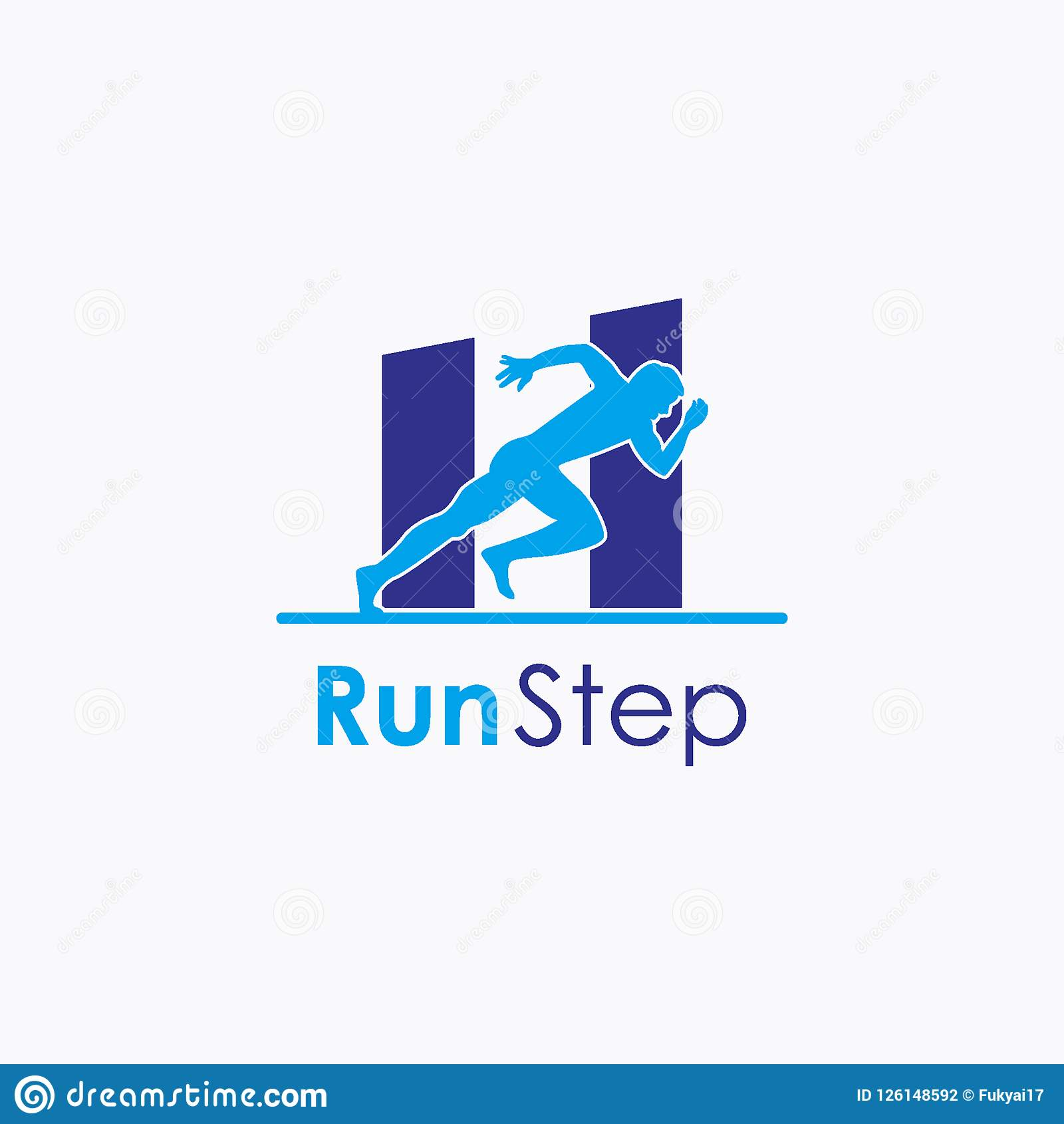 Running Logo Design Vector Free Download