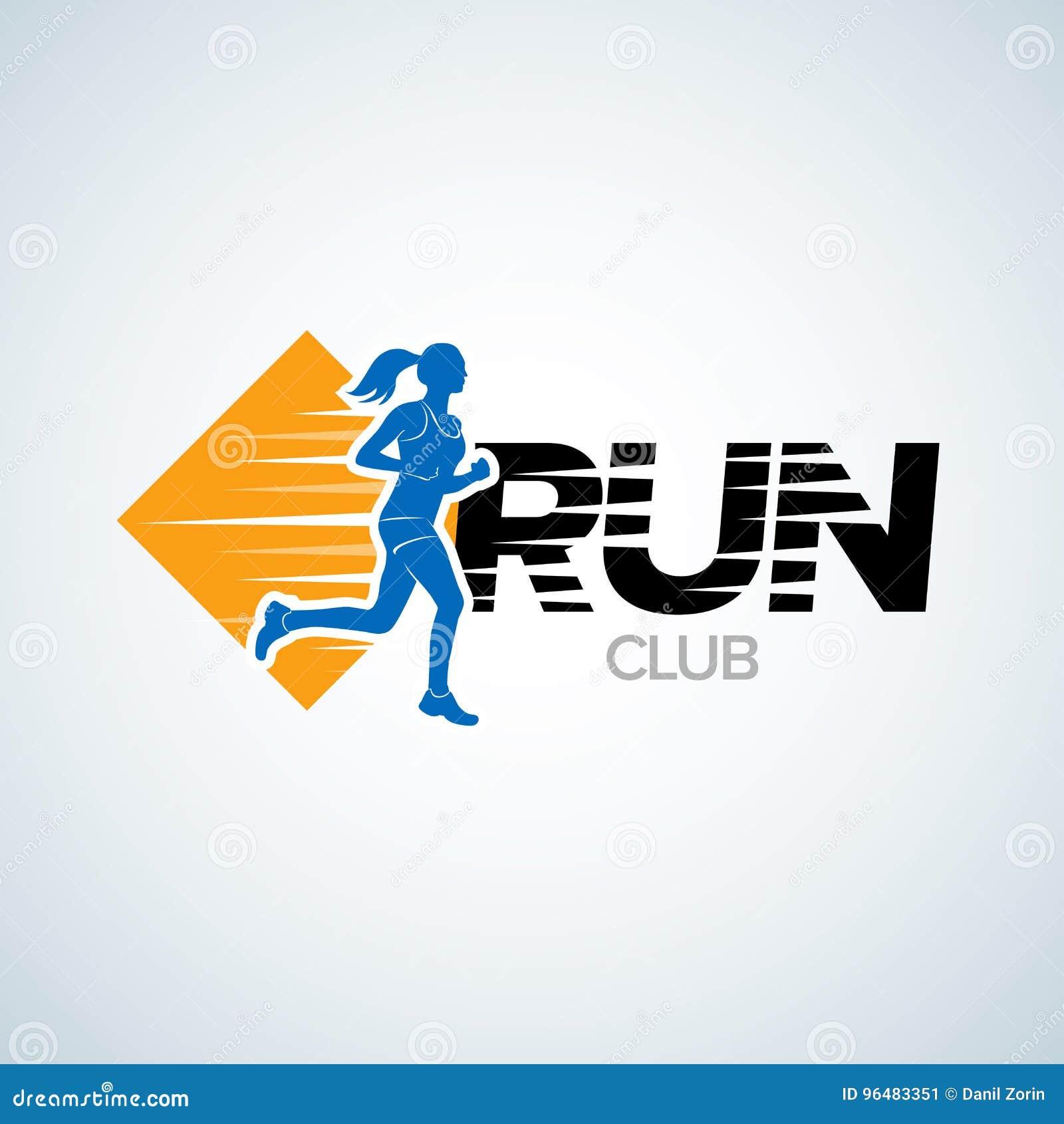 Run Club Logo Template . Sport Logotype Template , Sports