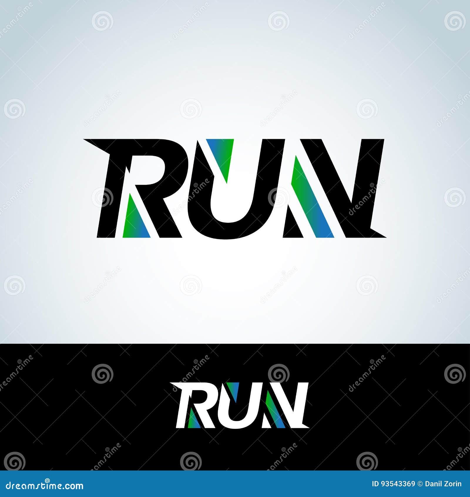 run club logo template t shirt design sport logotype template