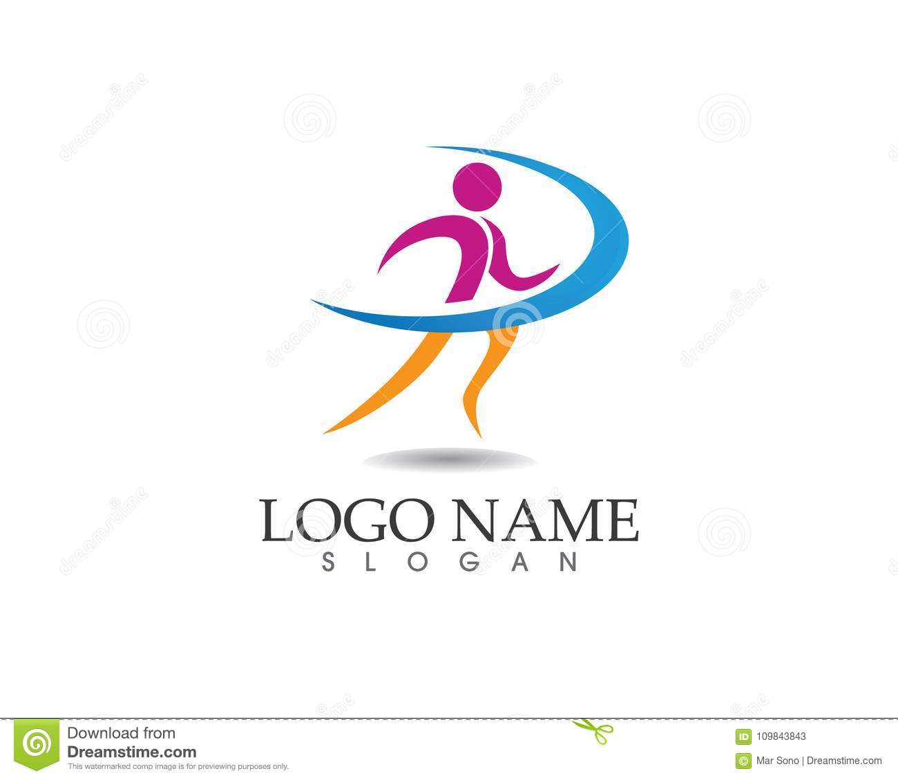 Run Health People Logo And Symbols Stock Vector Illustration Of