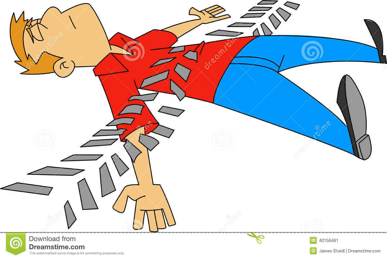 Run Over stock vector. Image of accident, tragedy, asleep ...