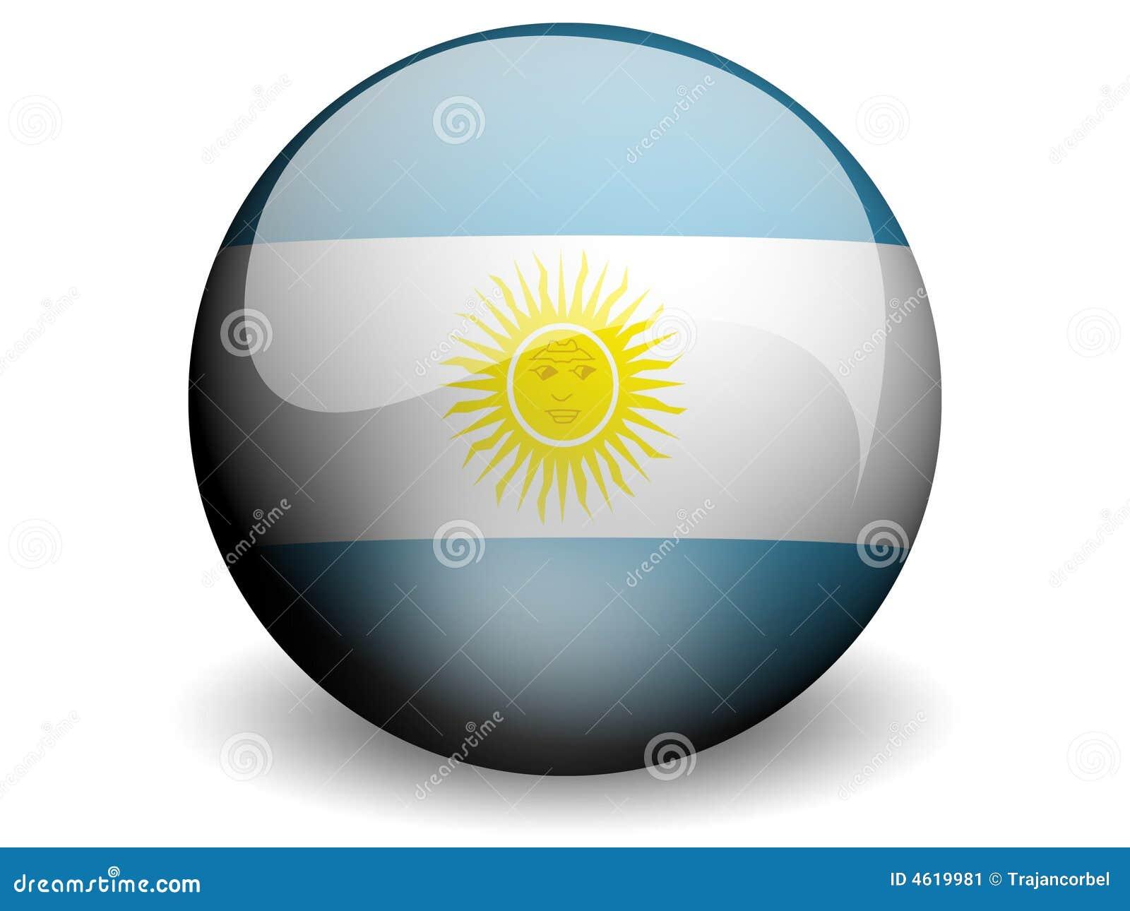 Rund argentina flagga
