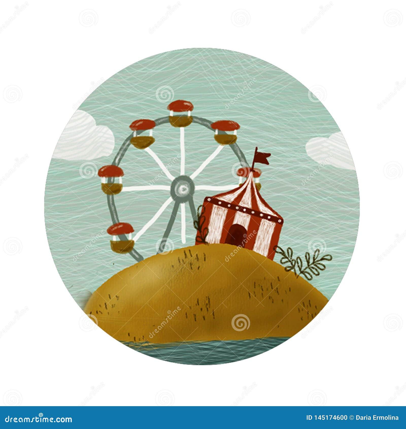 Rund cirkussymbol