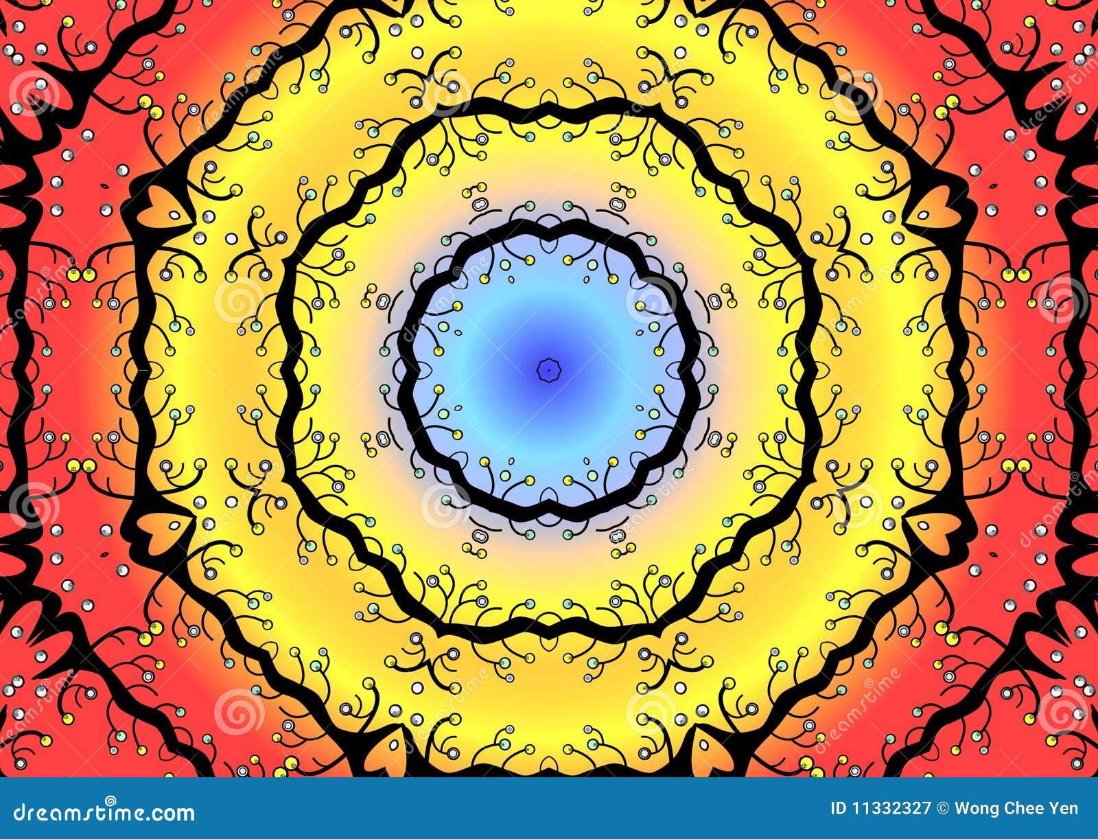 Rund färgrik illustration