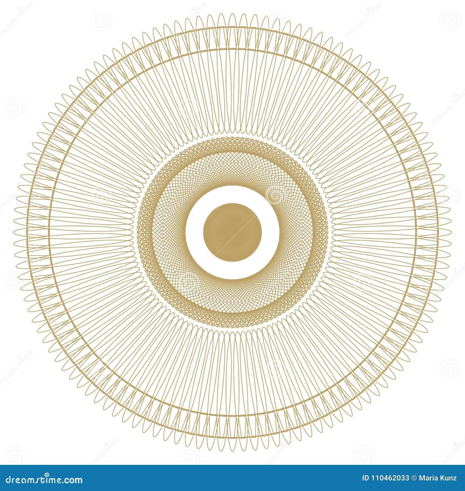 Rund modell modell med spirala beståndsdelar för designarbete