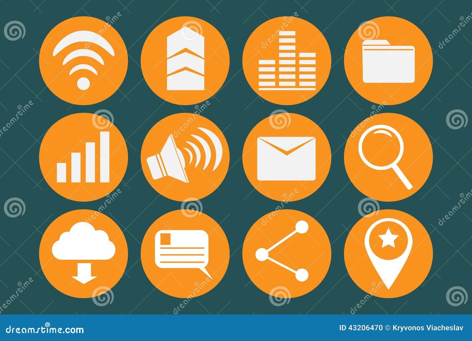 Download Runda symboler vektor illustrationer. Illustration av symbol - 43206470
