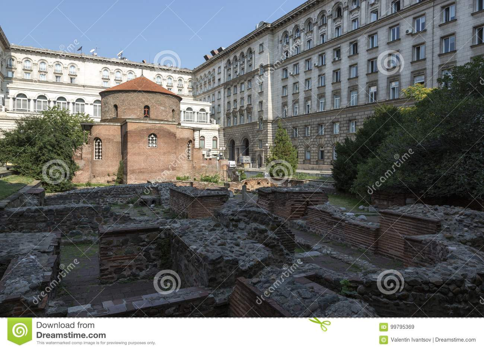 Rundbau von St George Architekturmonument von den römischen Zeiten