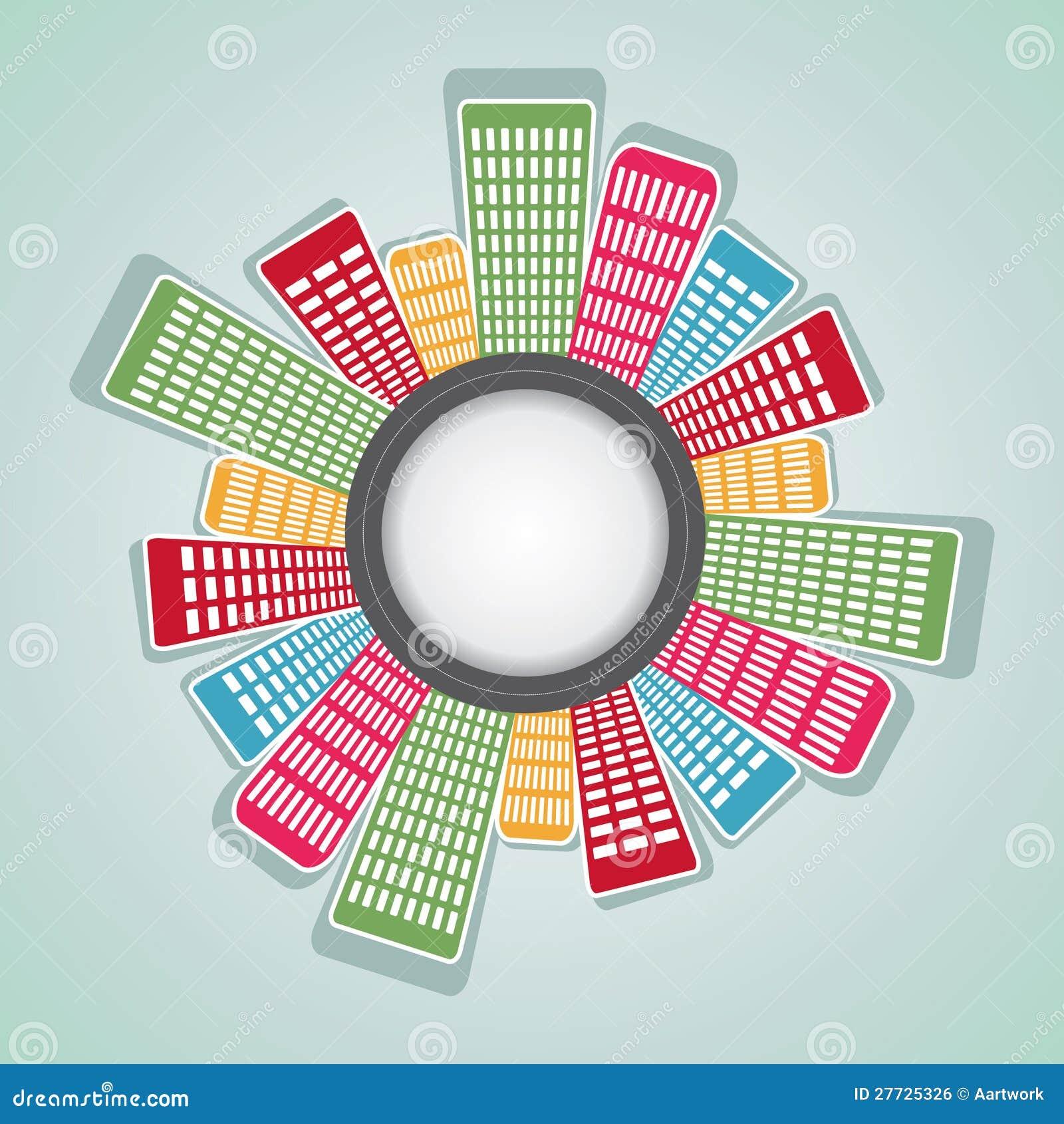 Runde Anordnung für bunte Wohnung