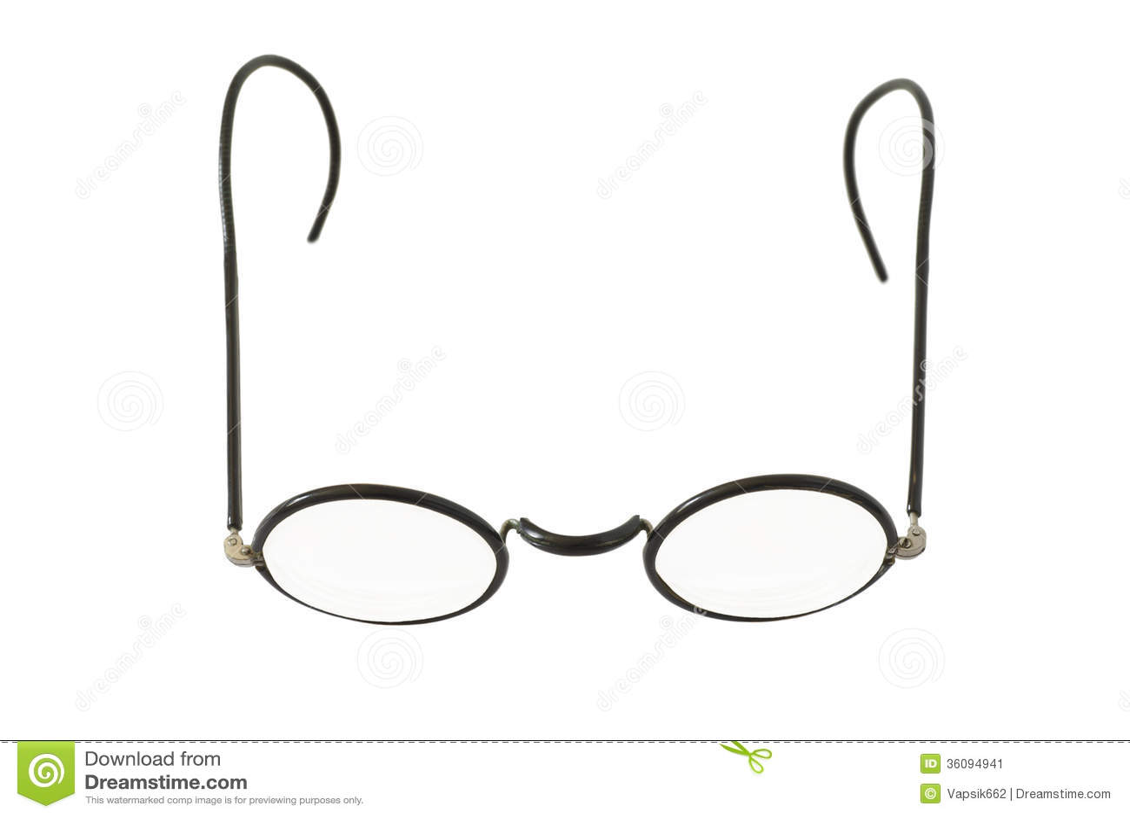 Runde Brillen der Weinlese stockbild. Bild von schutzbrillen - 36094941