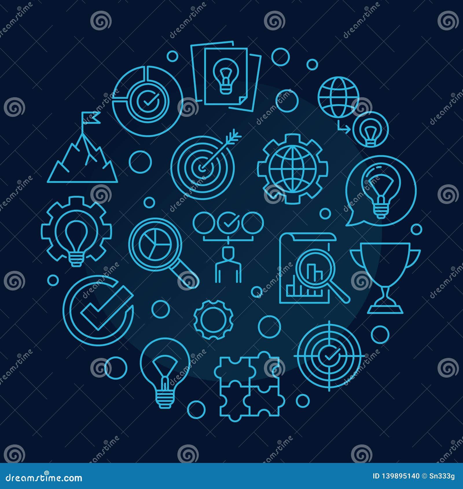 Runde Entwurfsillustration des Vektor-Handelswert-Konzeptes