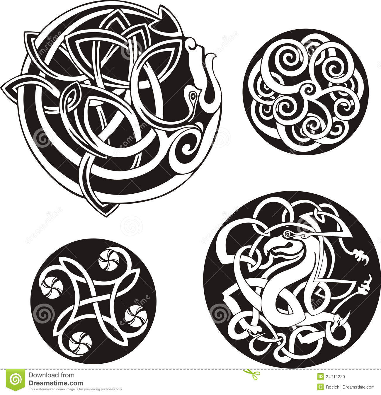 Round Celtic Tattoo Designs