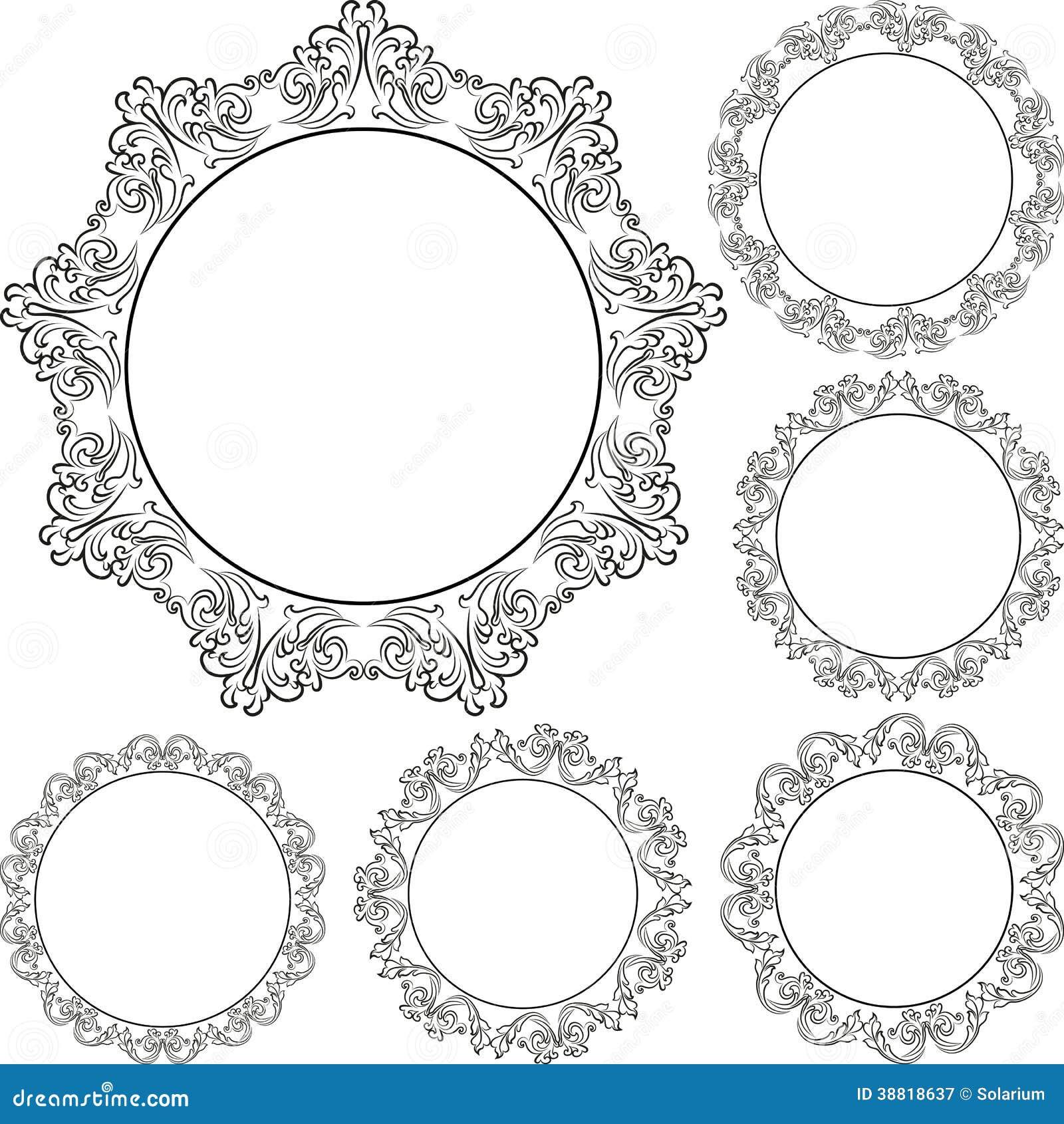 Runde Rahmen vektor abbildung. Illustration von verzierungen - 38818637
