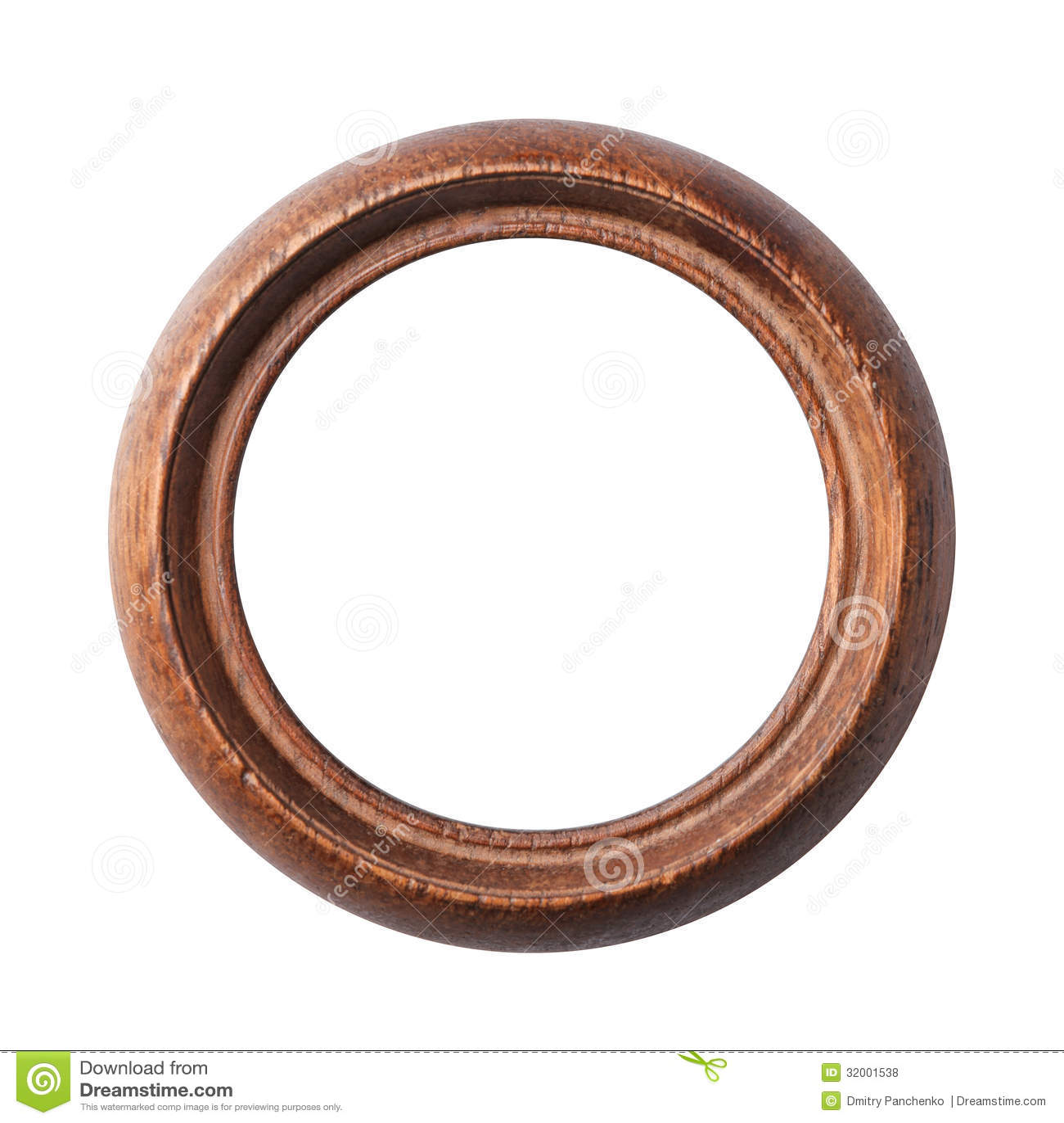 Runder alter Holzrahmen stockfoto. Bild von ausstellung - 32001538