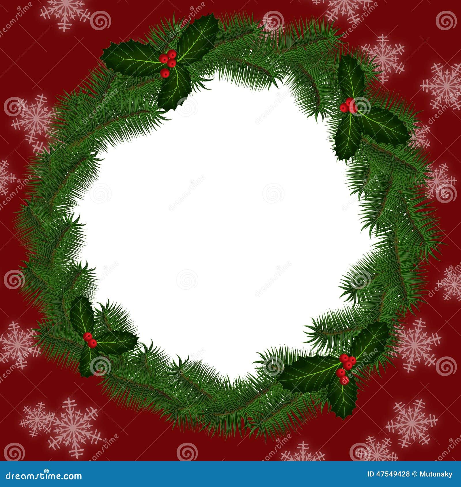 runder rahmen f r weihnachten stock abbildung bild 47549428. Black Bedroom Furniture Sets. Home Design Ideas