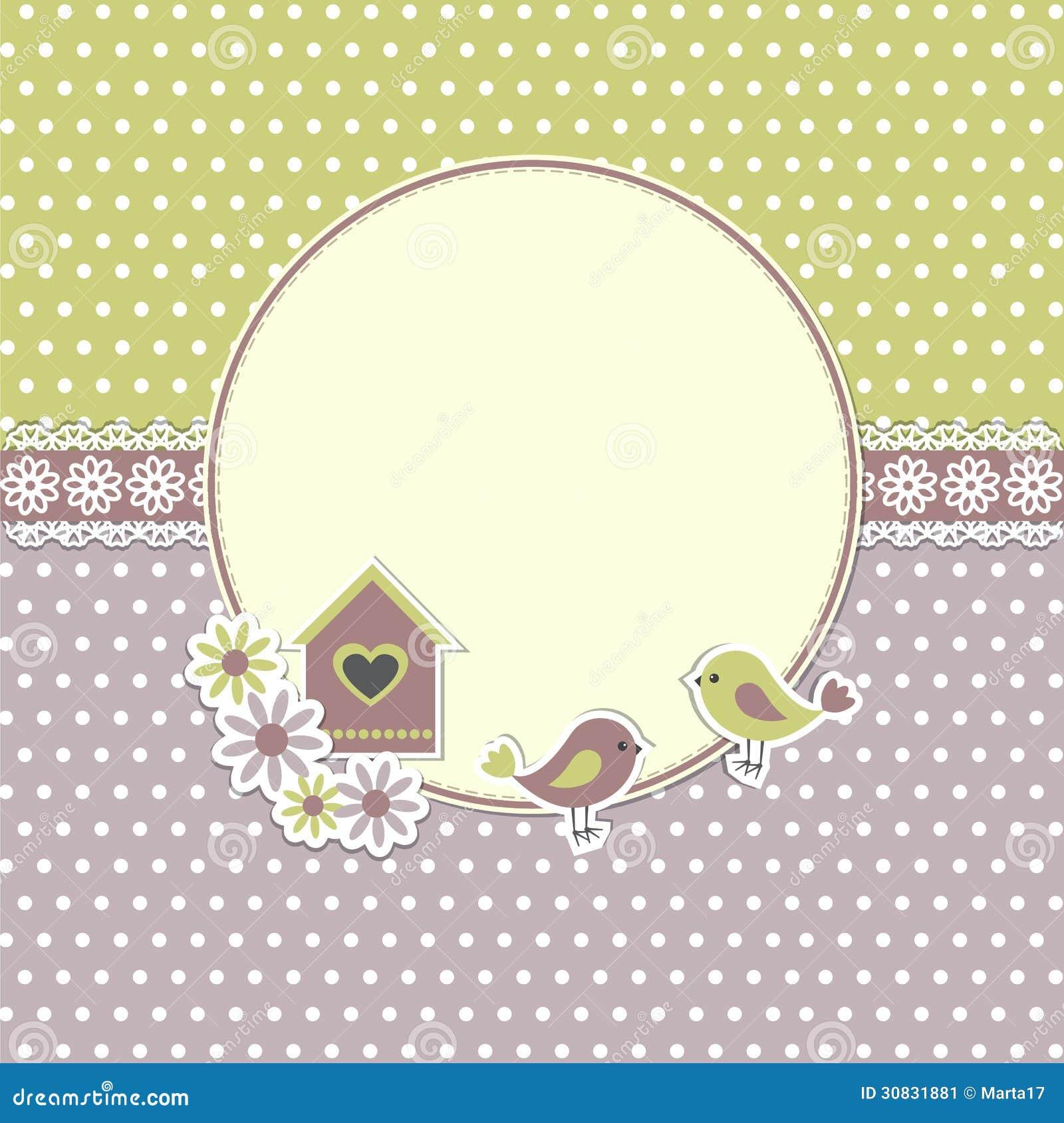 Runder Retro- Rahmen Mit Vögeln Vektor Abbildung - Illustration von ...