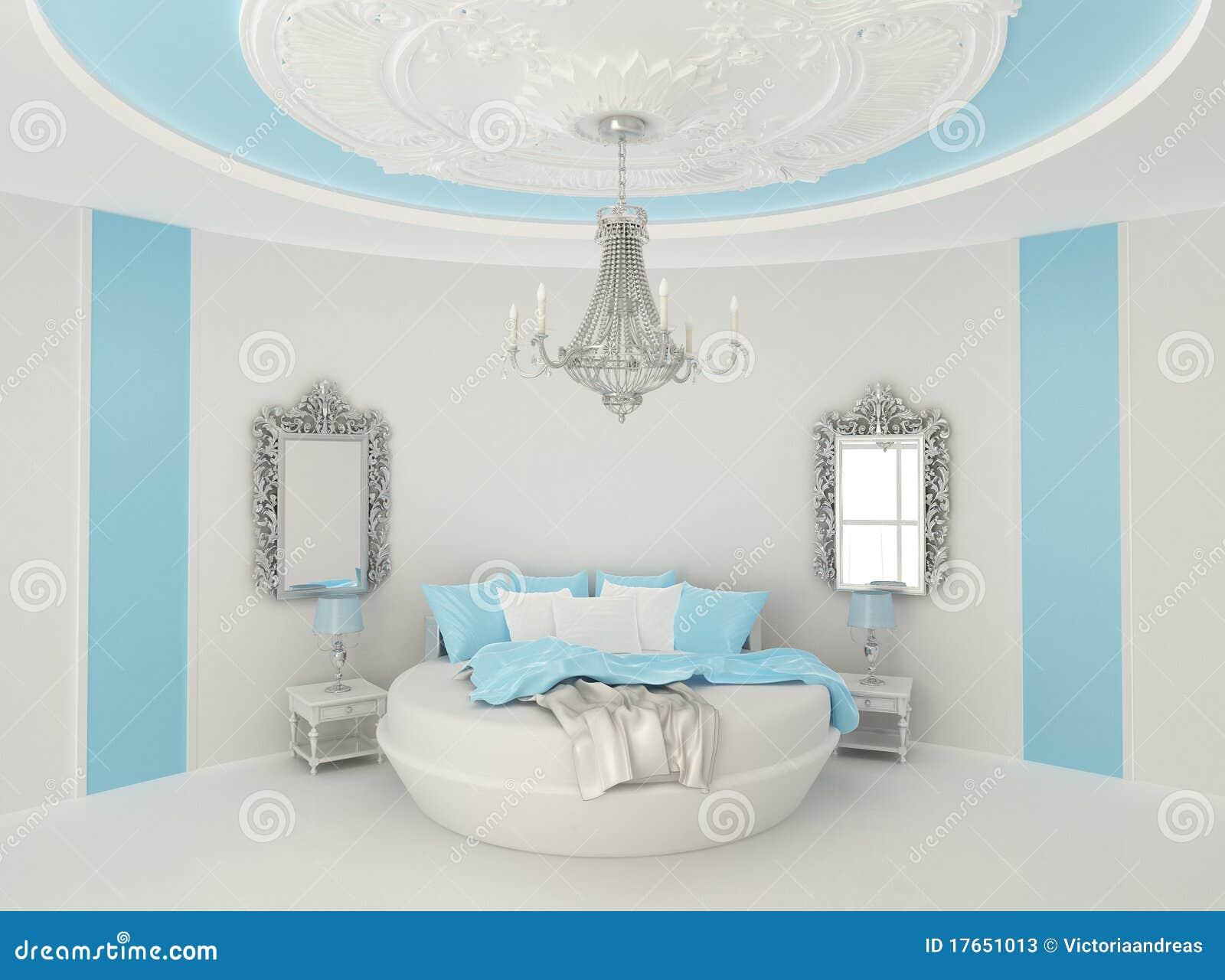 rundes bett im barocken innenraum stock abbildung bild 17651013. Black Bedroom Furniture Sets. Home Design Ideas